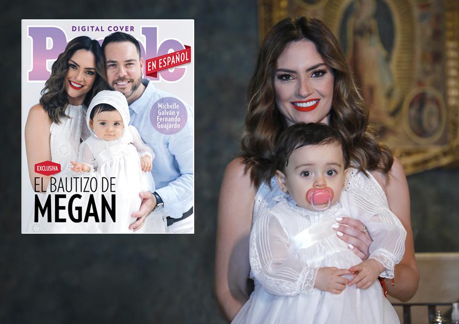 Michelle Galvan, Fernando Guajardo y Megan bautizo