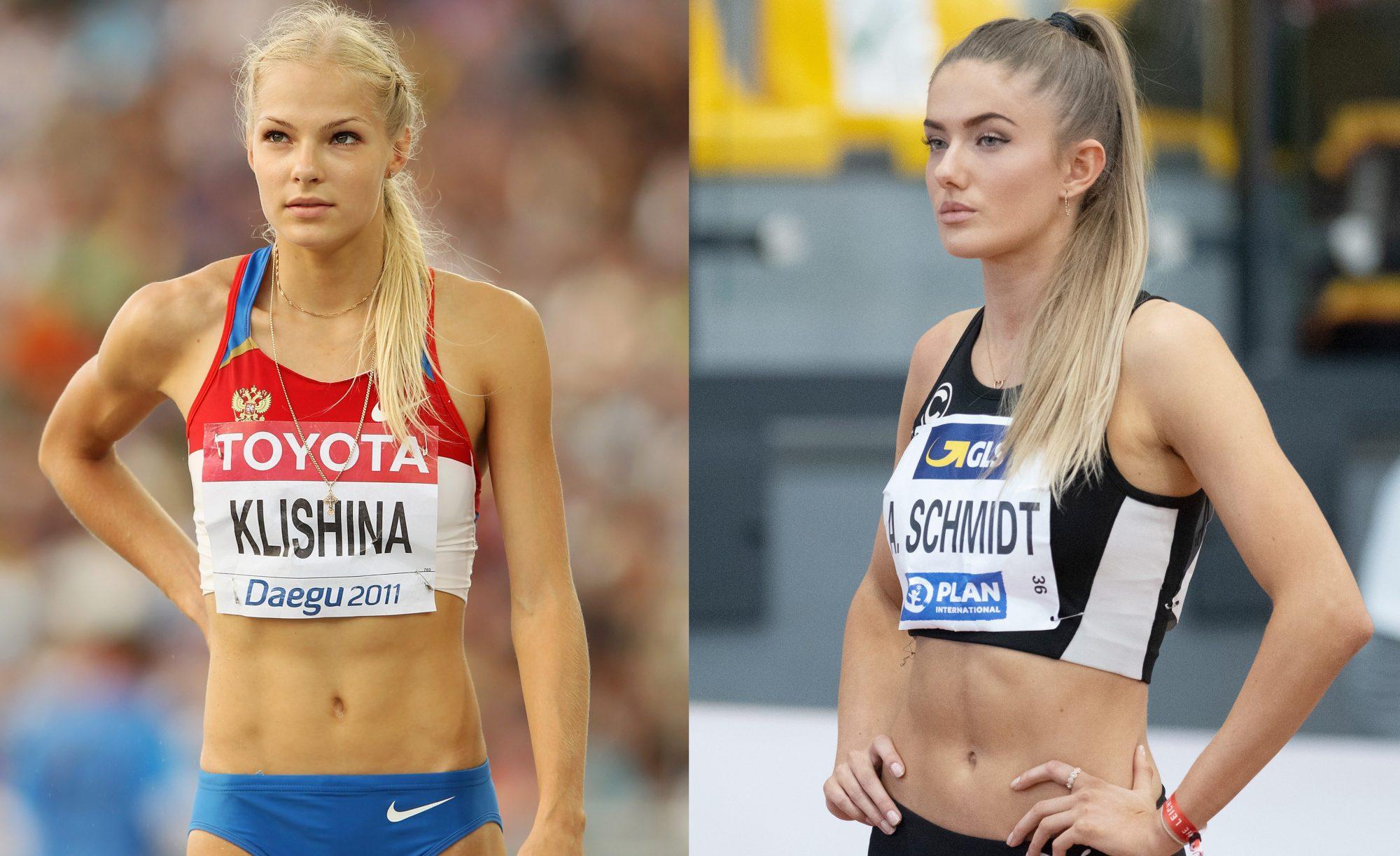 Darya Klishina y Alica Schmidt