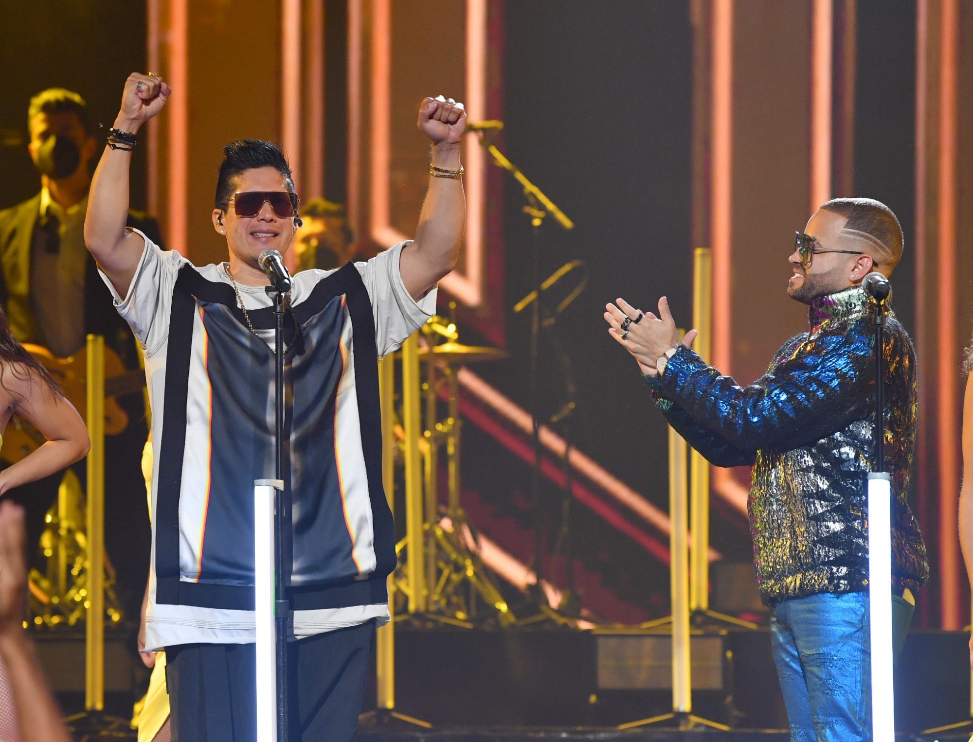 Chino and Nacho perform during Premios Juventud 2021