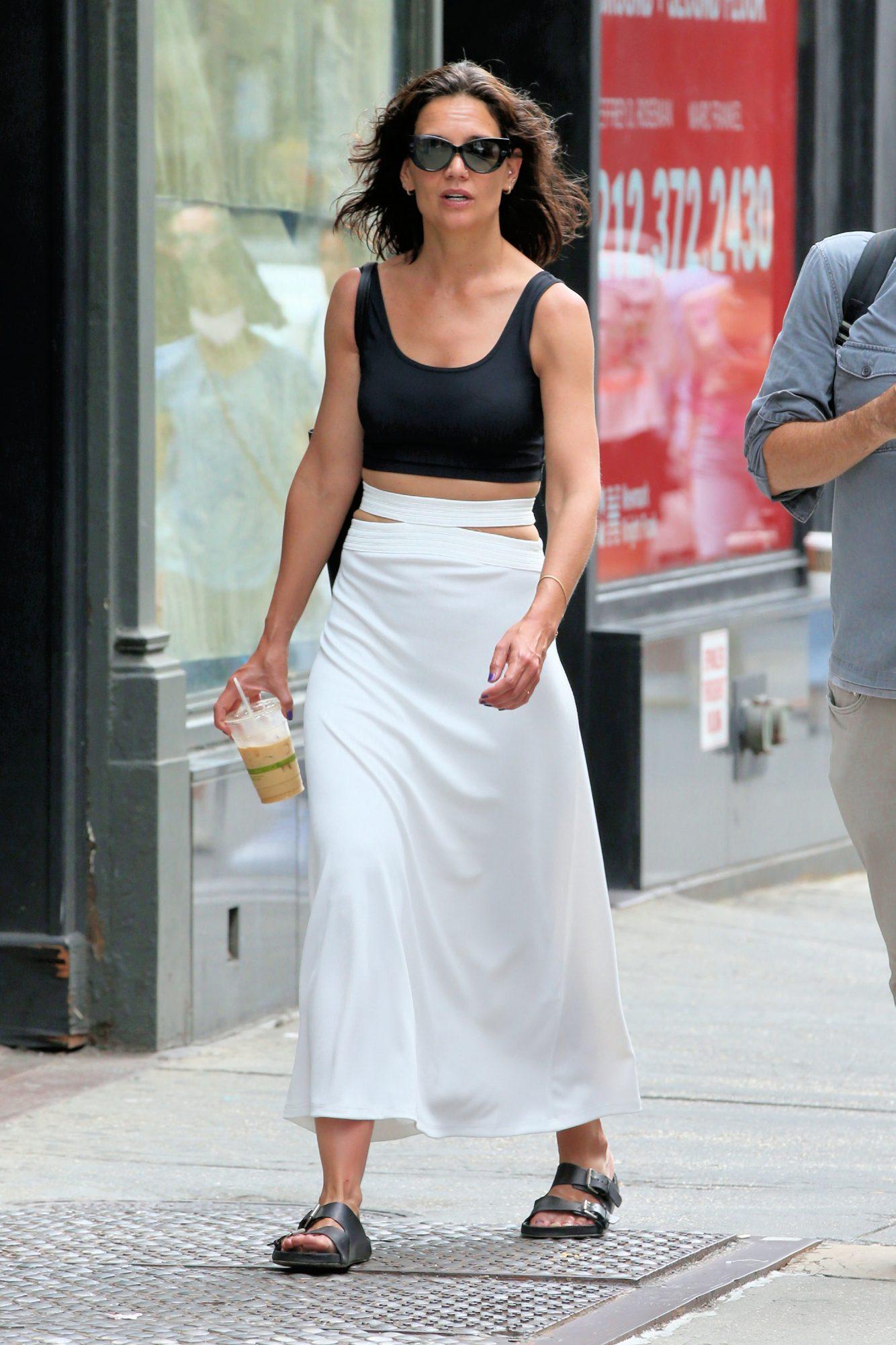 Katie Holmes, look del dia, new york