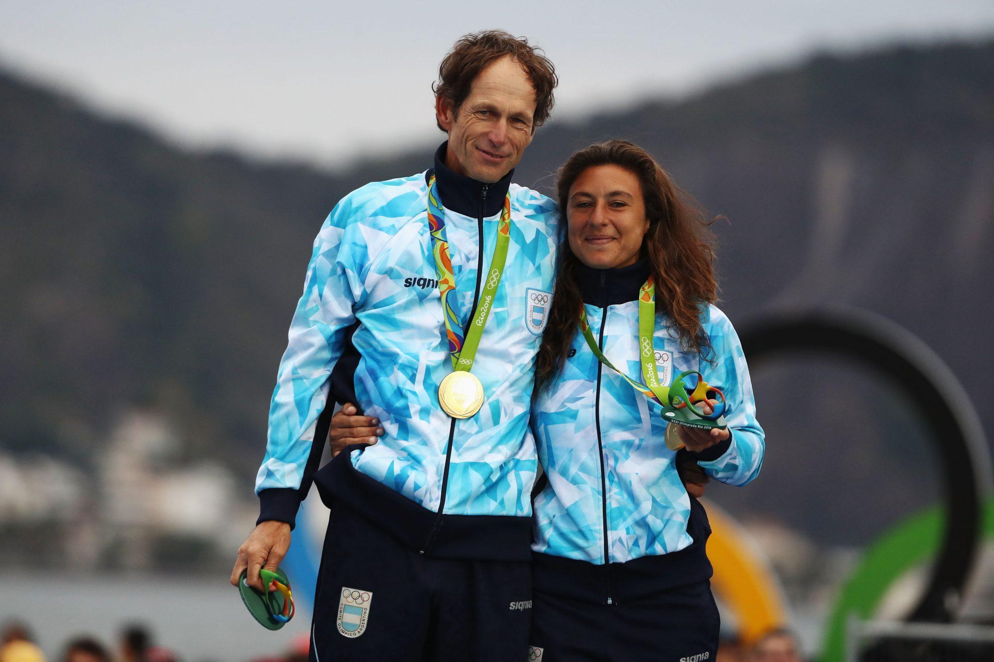 En Río 2016, su sexta participación en unos Juegos Olímpicos, el regatista argentino logró ganar su primera medalla de oro. Con esta completó un total de tres medallas, ya que en Atenas 2004 y Pekín 2008 logró ganar medallas de bronce.