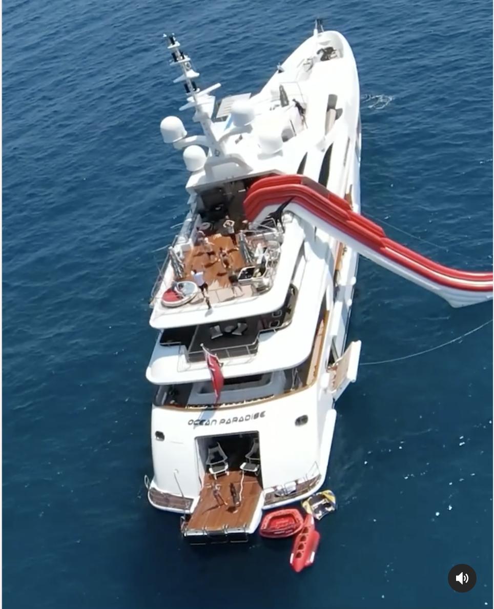 Ocean Paradise yate Alex Rodríguez vacaciones Europa 2021
