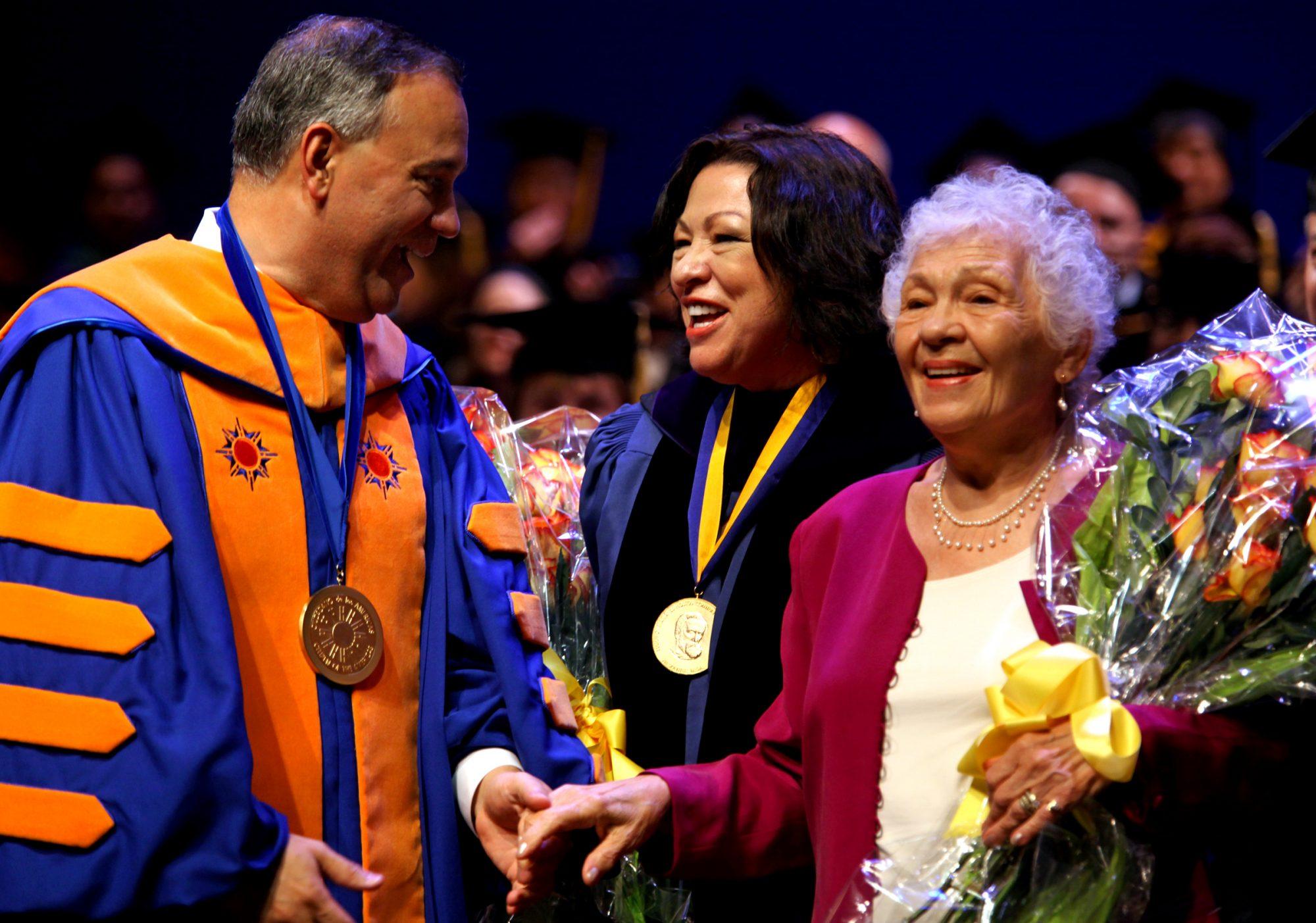 Sonia Sotomayor y su madre