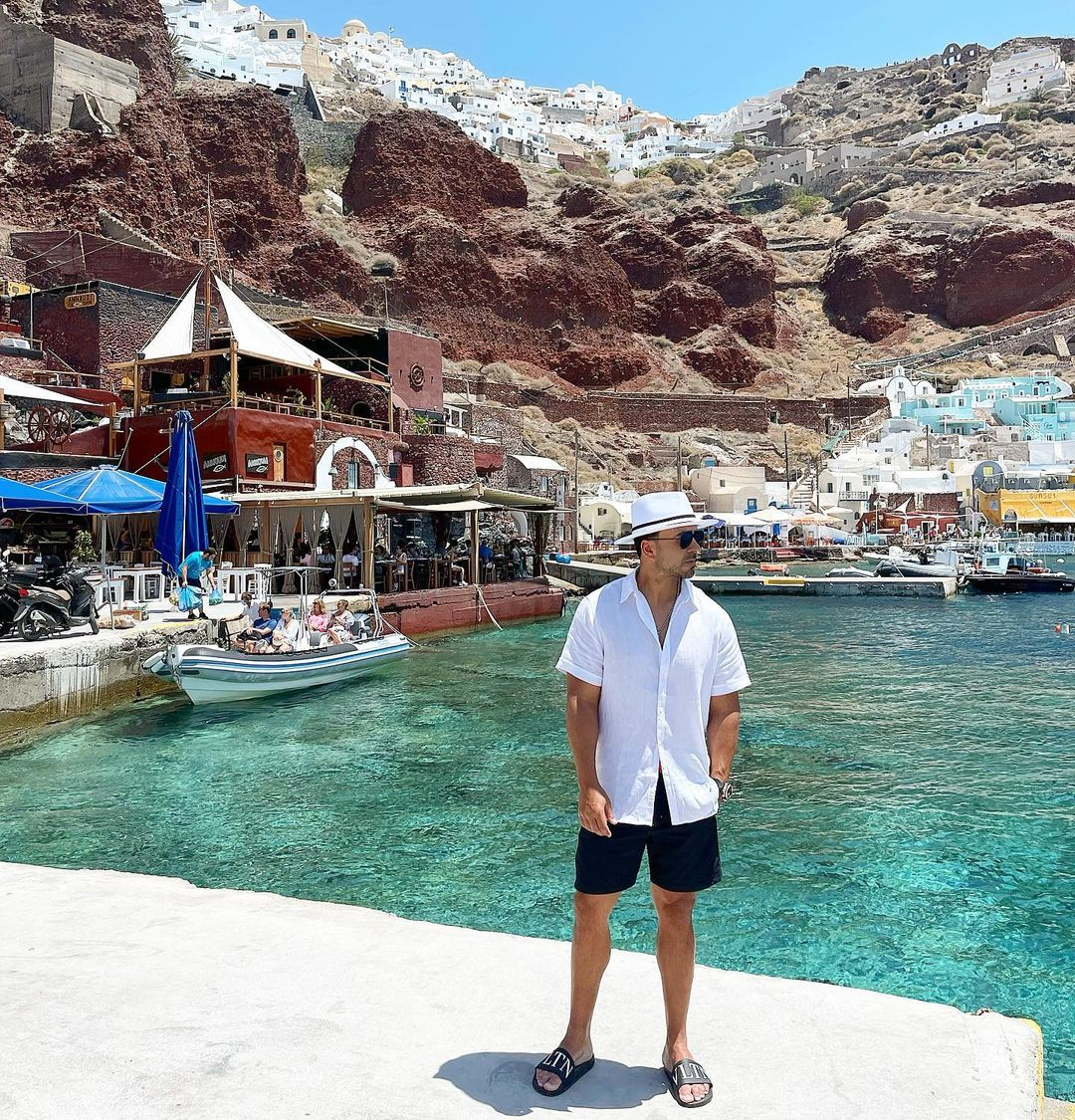Luis Fonsi Santorini Grecia