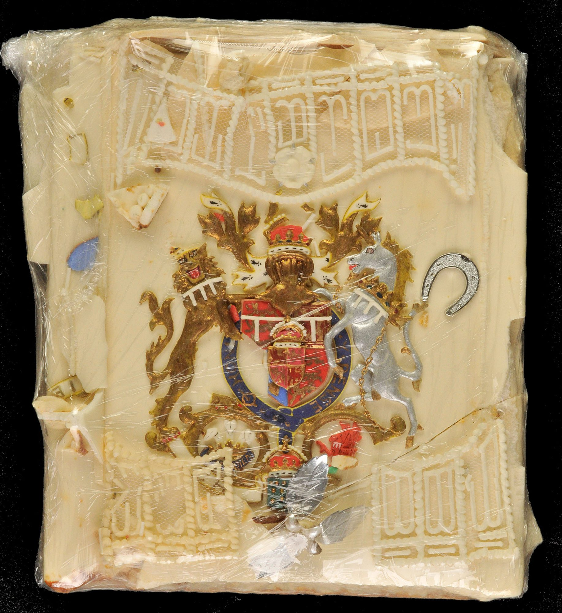 A slice of Prince Charles and Princess Diana's wedding cake up for auction - Aug 2008