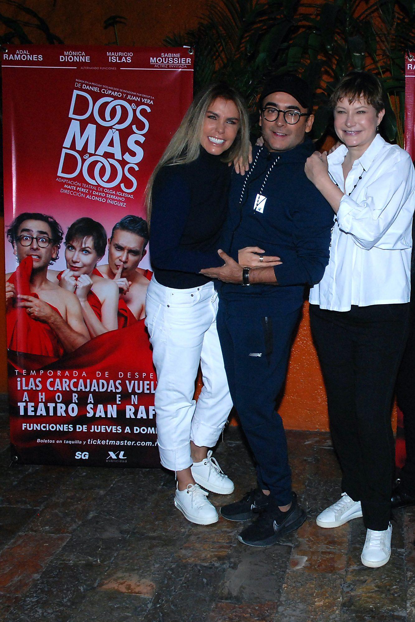 """Adal Ramones, Sabine Moussier y Mónica Dionne protagonizan la obra de teatro """"Dos Mas Dos"""""""
