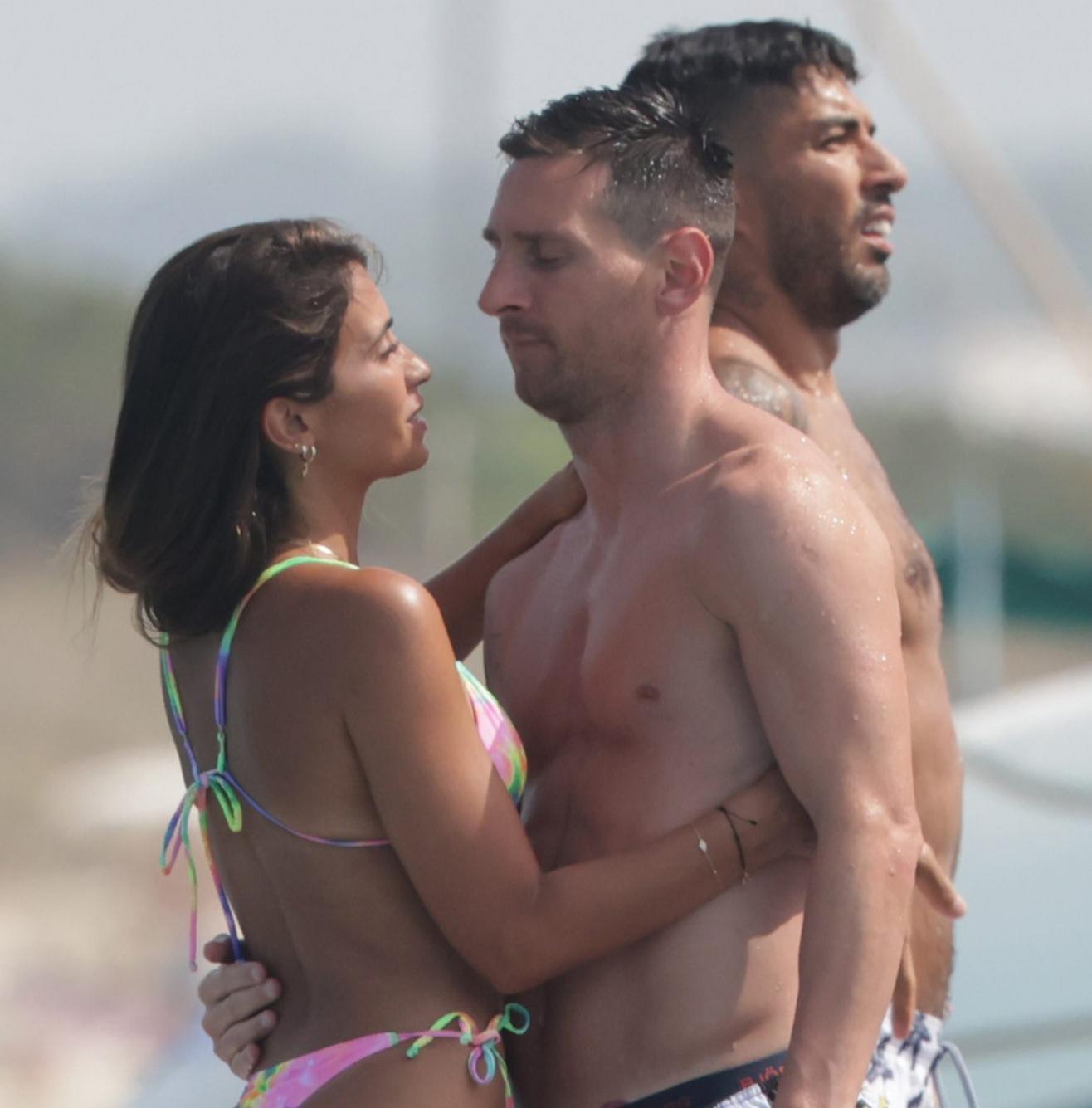 Leo Messi y su esposa