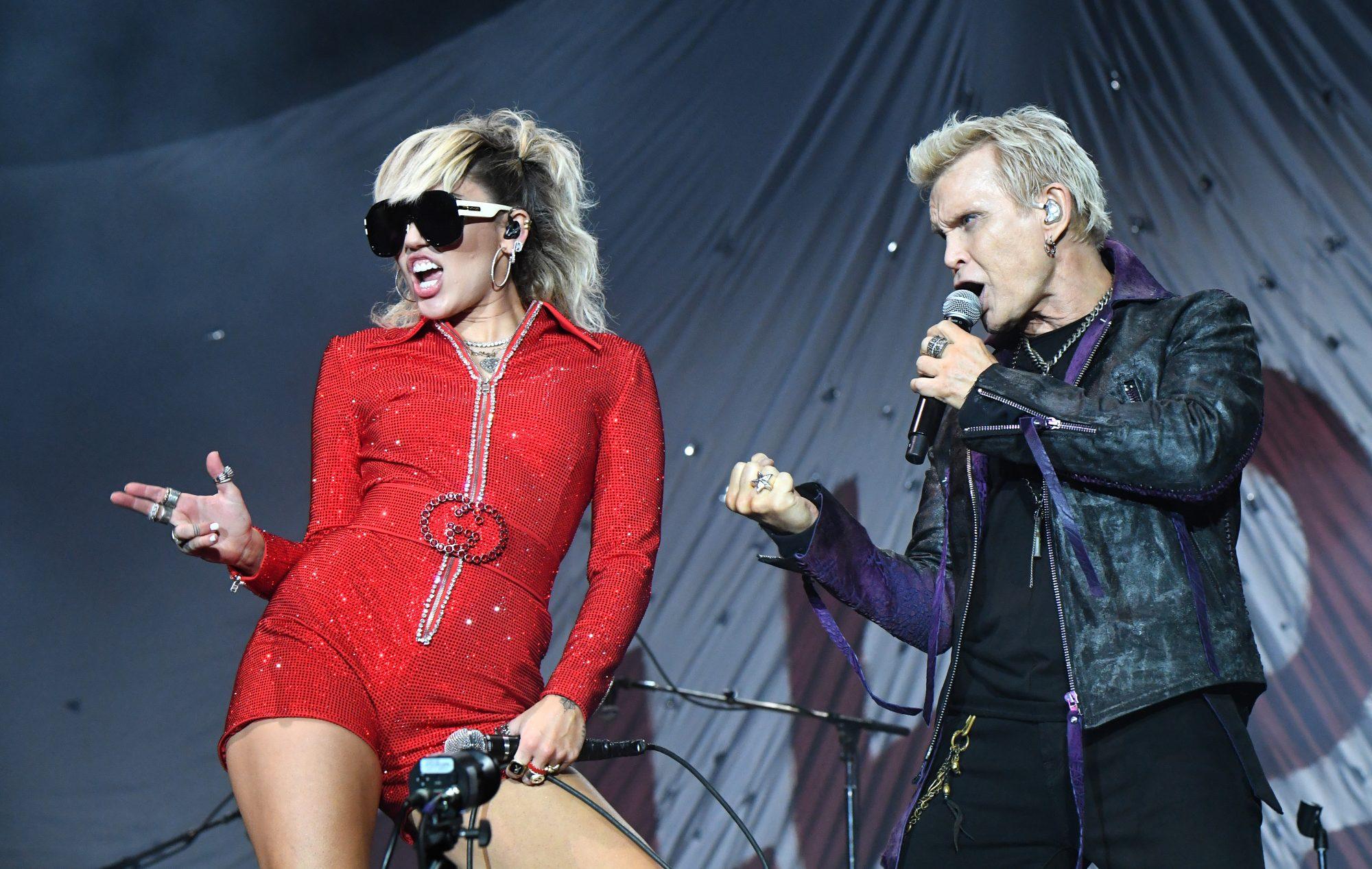 Lollapalooza Miley Cyrus Billy Idol