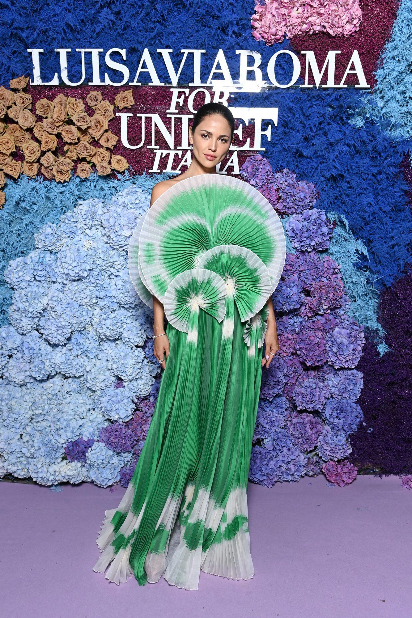 Eiza gonzalez, look del dia, vestido verde para Unicef