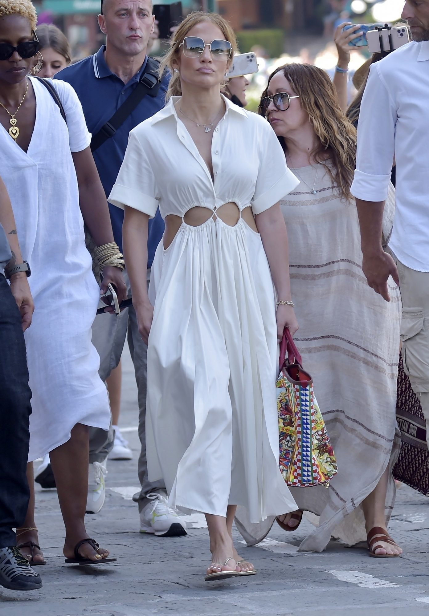 Jennifer Lopez, portofino, vestido blanco