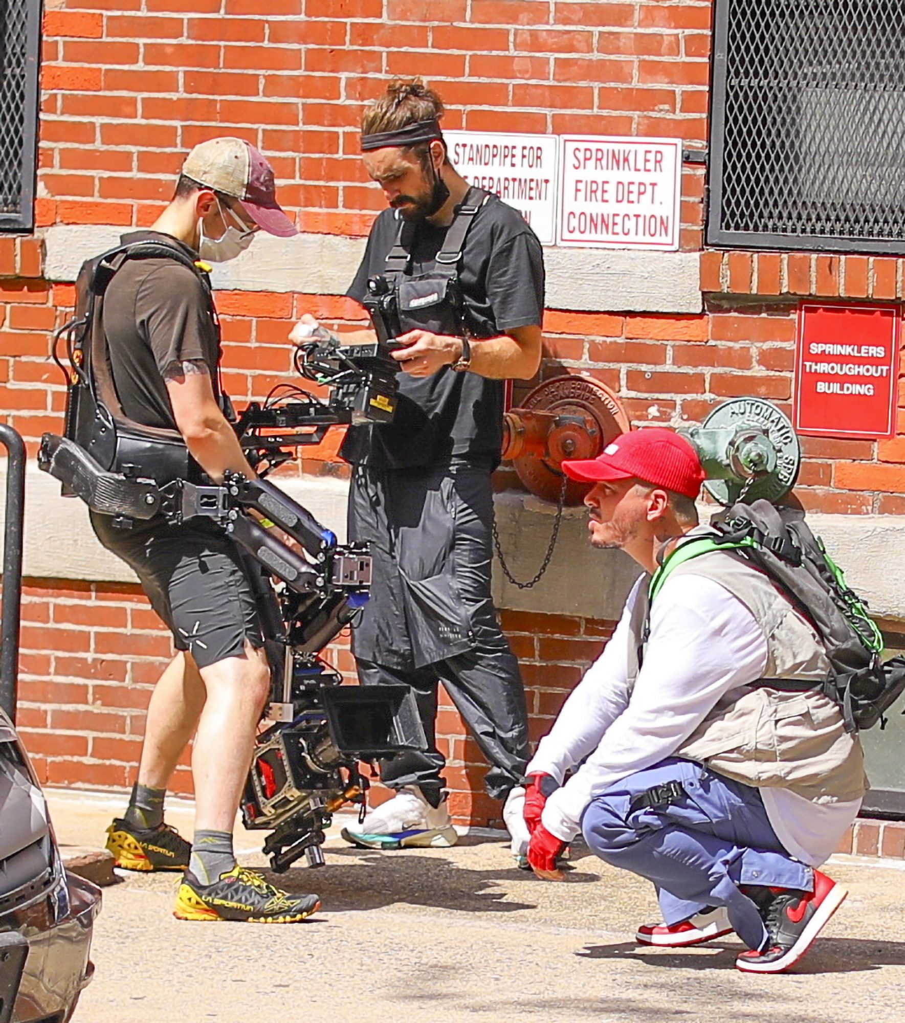 J Balvin Films in a Construction Outfit for Latest Music Video in NYC