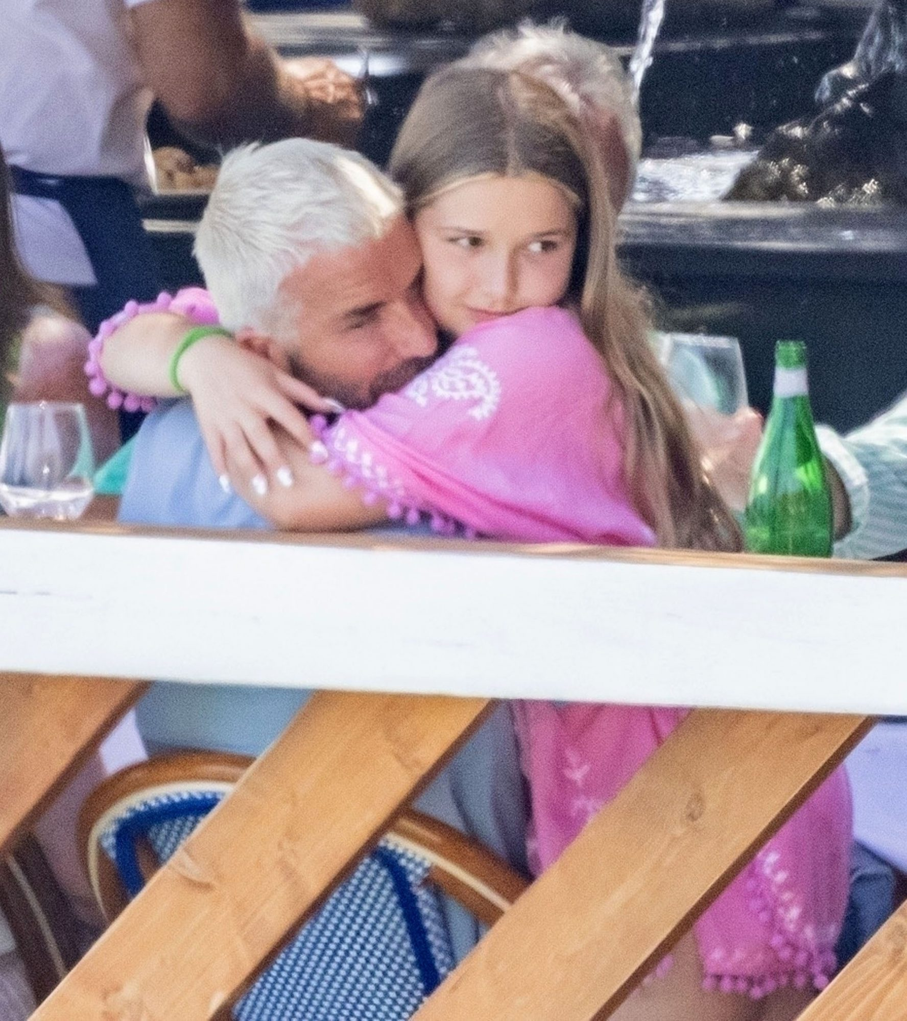 David Beckham Cuddles With Daughter Harper On Family Dinner Out In Positano