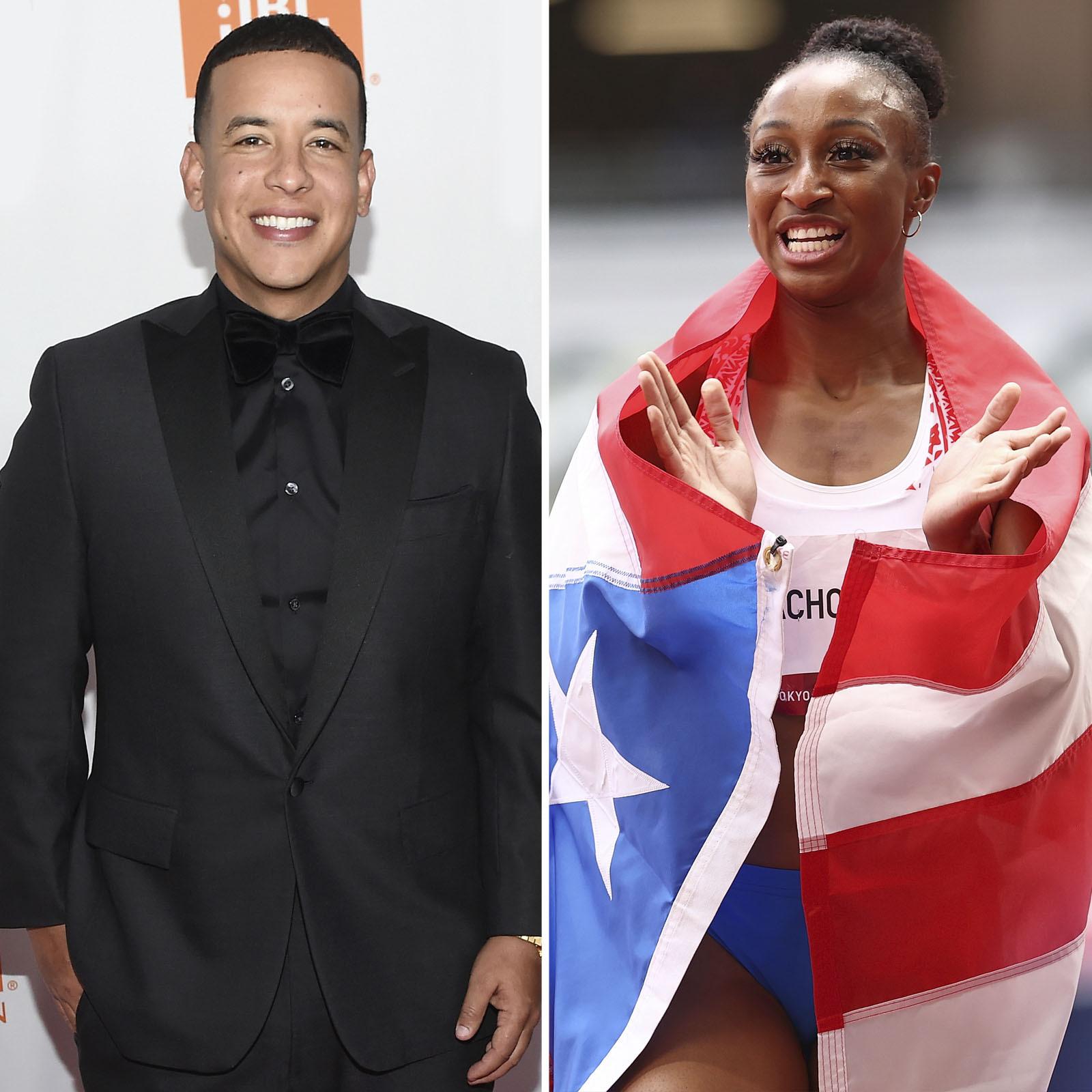 Daddy Yankee y Jasmine Camacho-Quinn