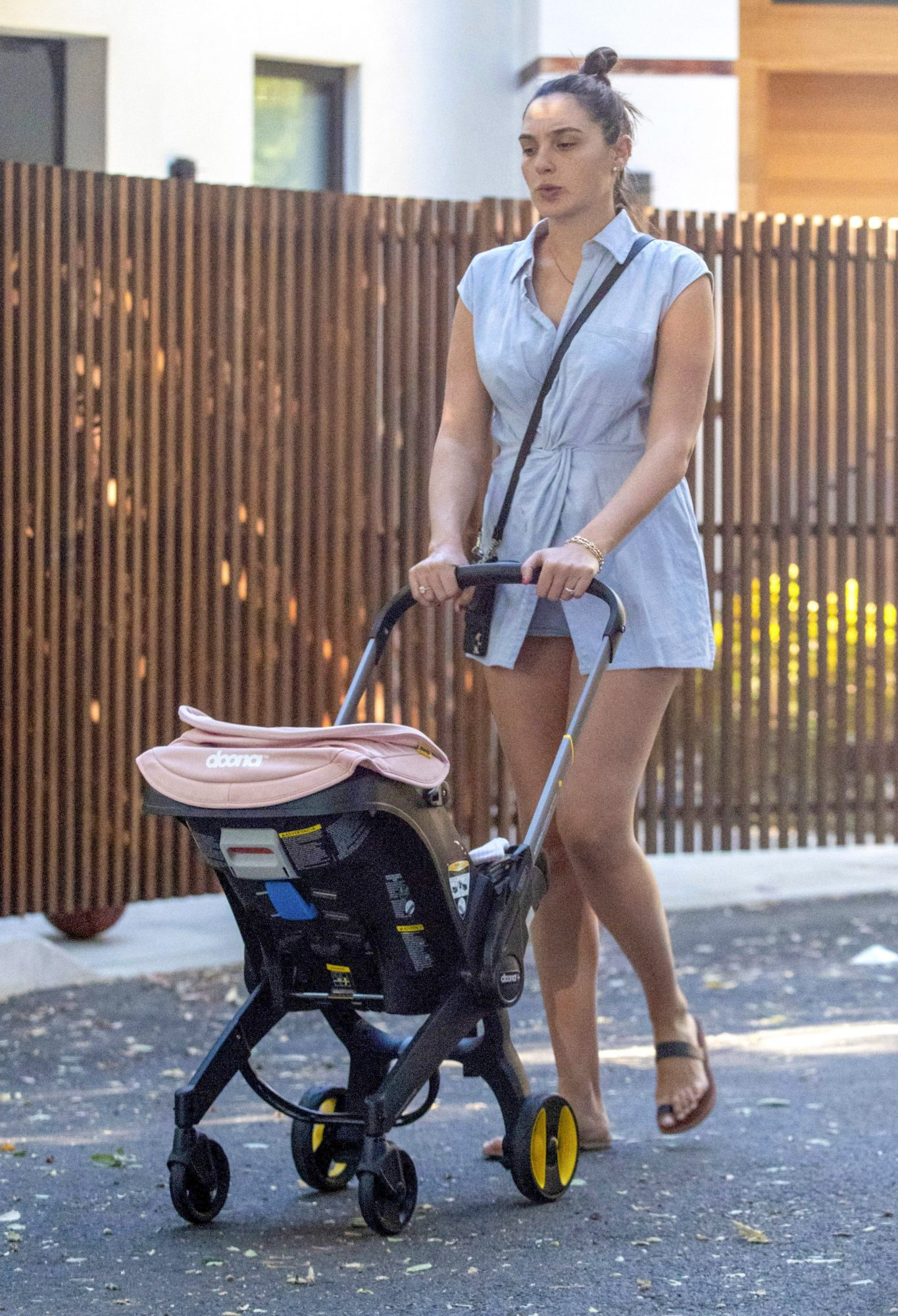 Gal Gadot Seen for the First Time Since Giving Birth with her Baby in a Stroller