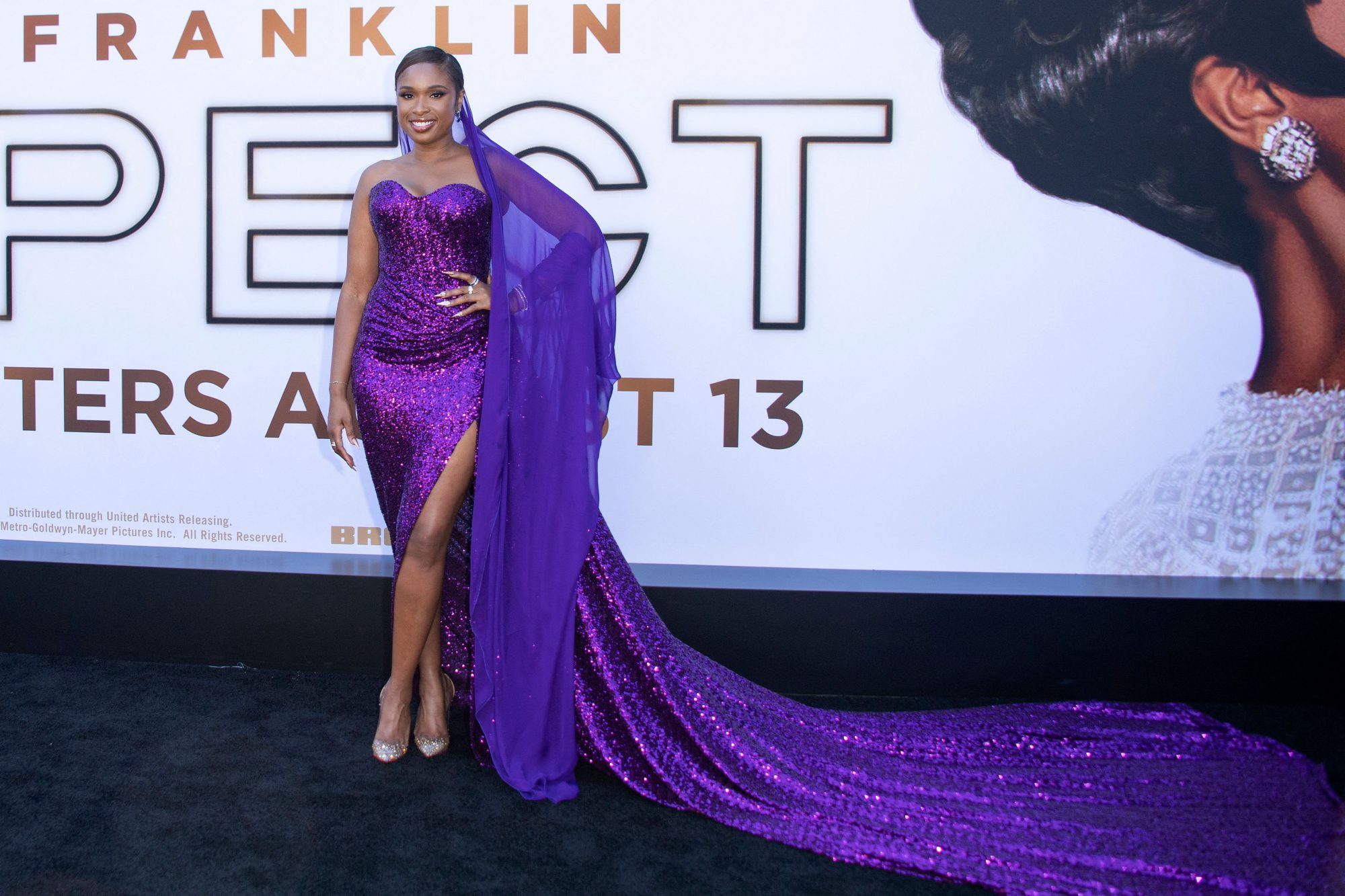 """Jennifer Hudson attends the Los Angeles premiere of """"Respect"""" in Westwood, California"""