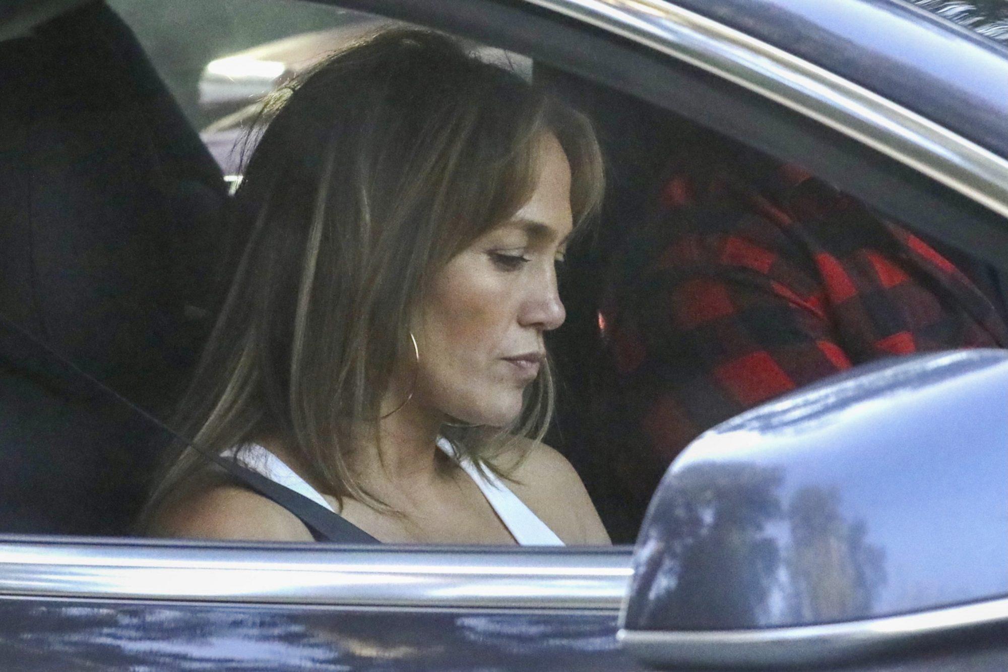 Jennifer Lopez Enjoys A Snack After A Couples Martial Arts Session At Ben's House