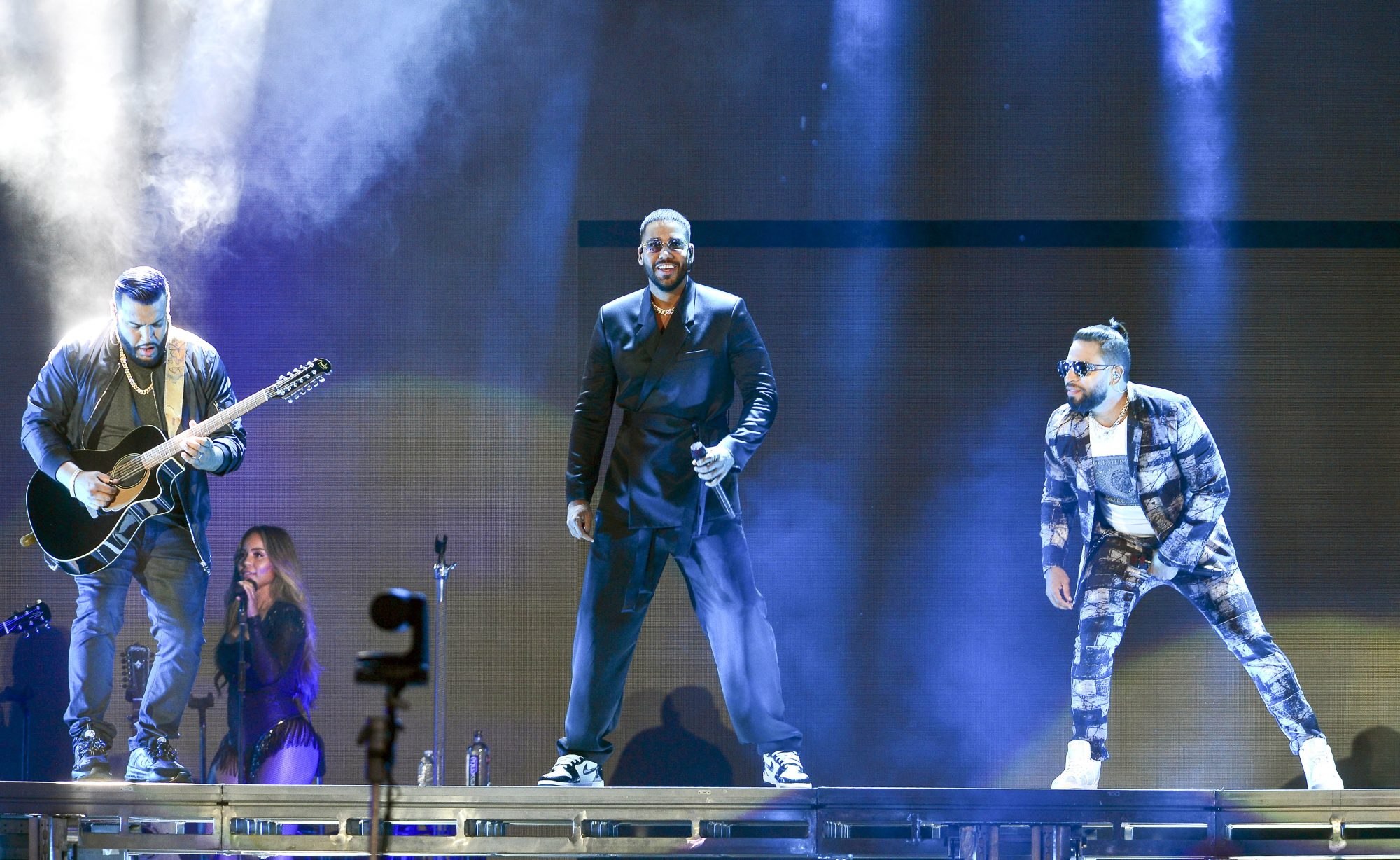 Dominican-American Bachata Group Aventura Performing in Miami