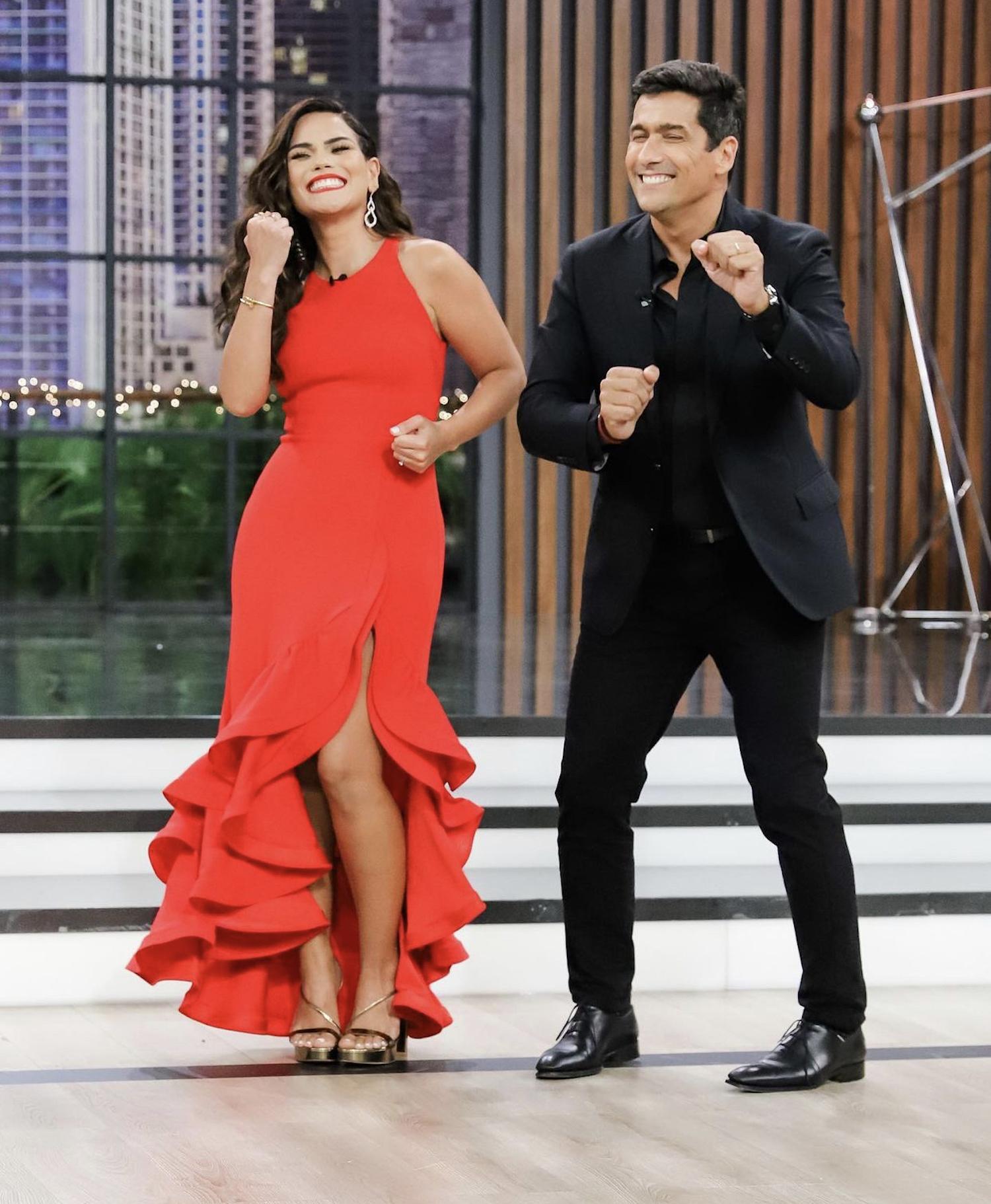 Karina Banda y Rafael Araneda, conductores de Enamorándonos
