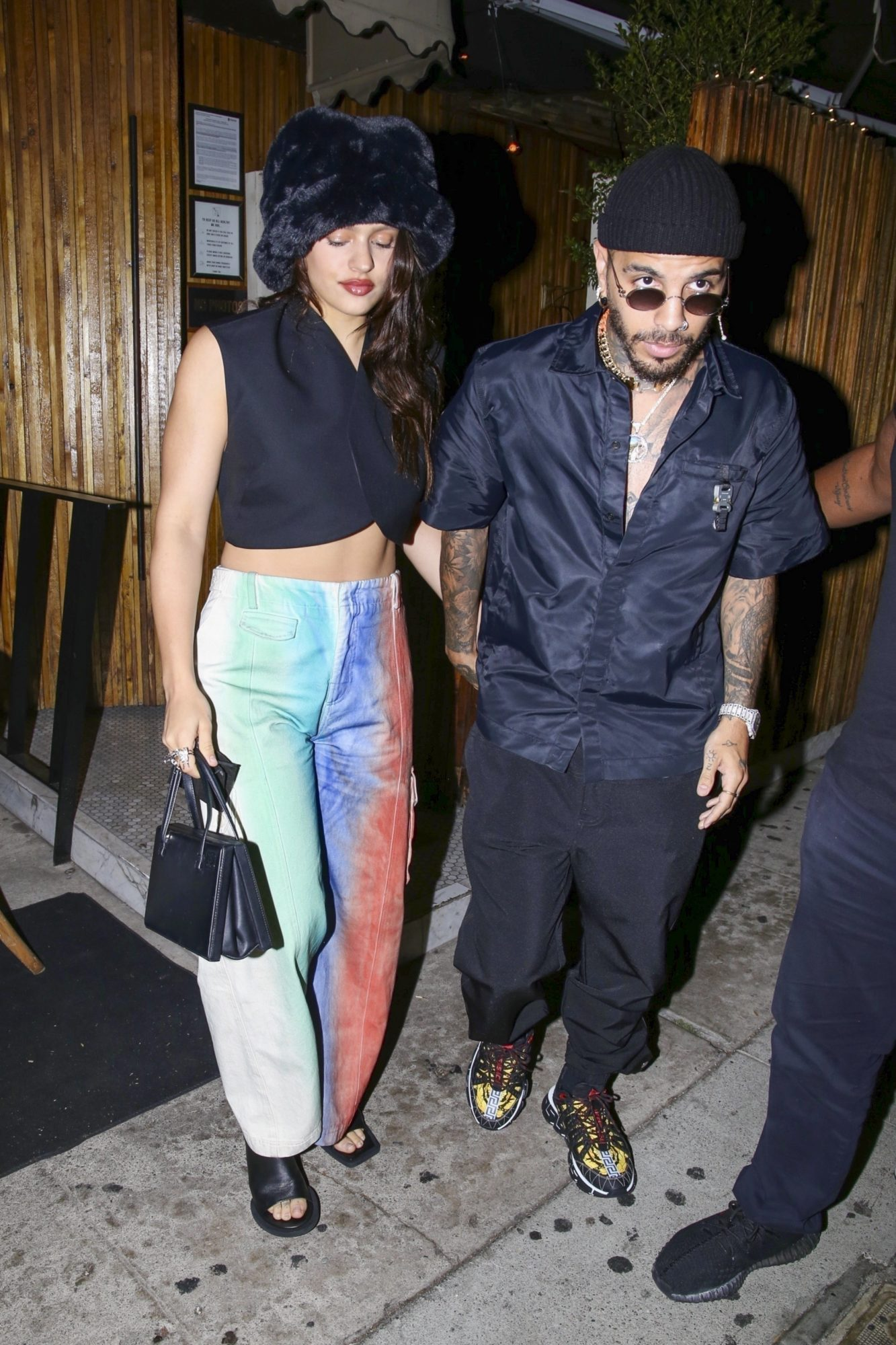 EXCLUSIVE Rosalia & Rauw Alejandro Hold Hands after Dinner in West Hollywood