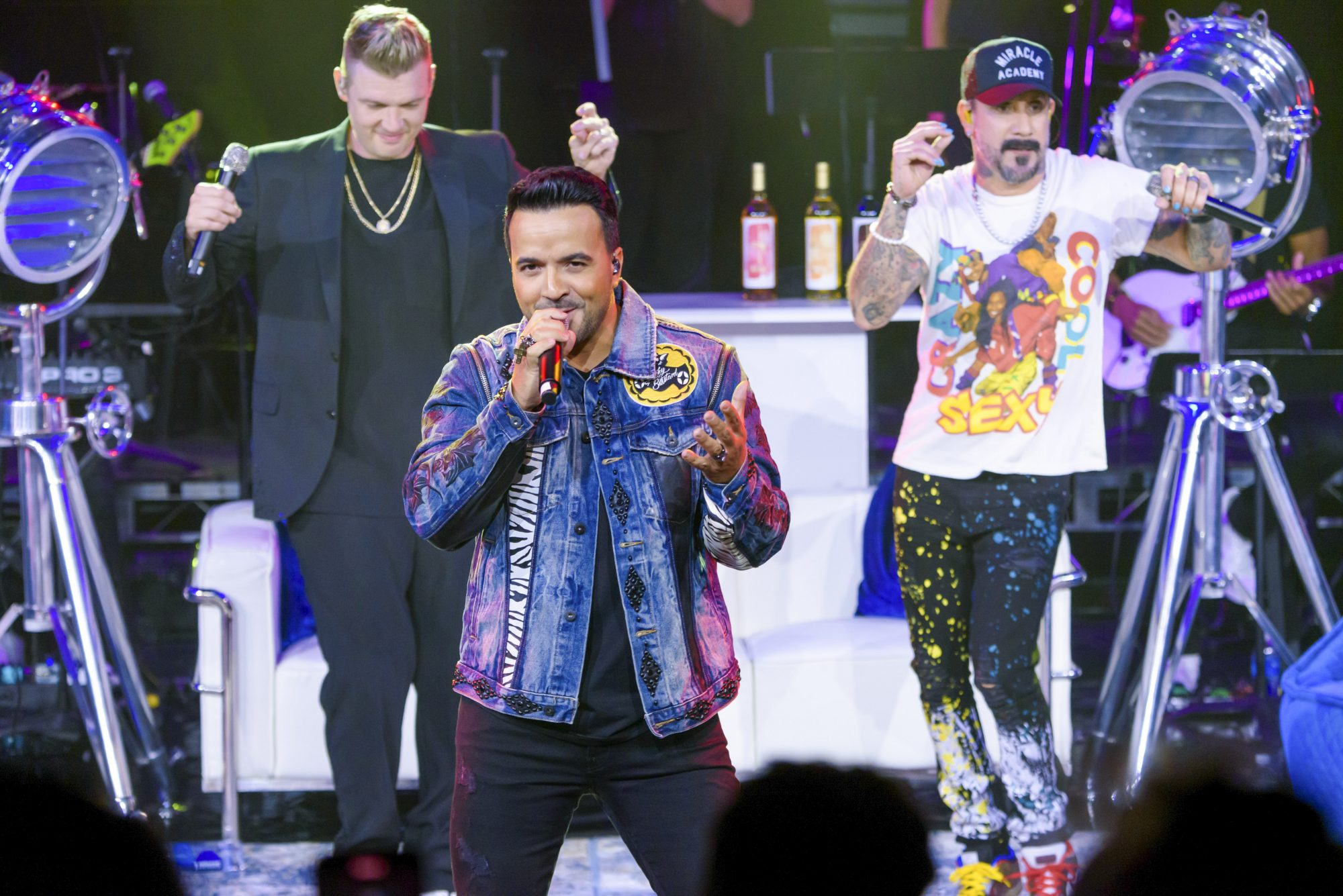Luis Fonsi Joins Backstreet Boys for The After Party at The Venetian Resort Las Vegas