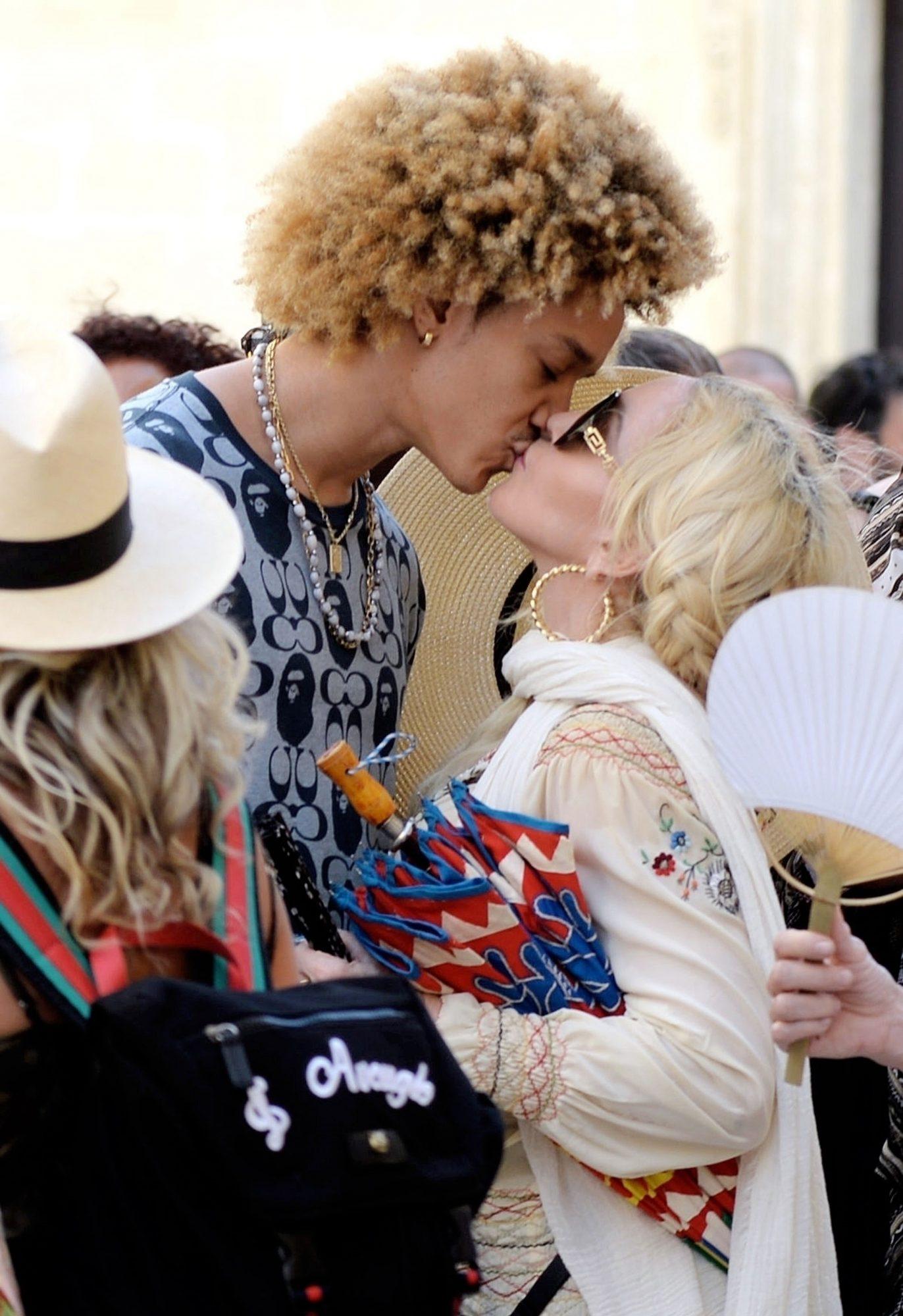 Madonna Shares a Tender Kiss with her Beau Ahlamalik Williams During Italian Birthday Break