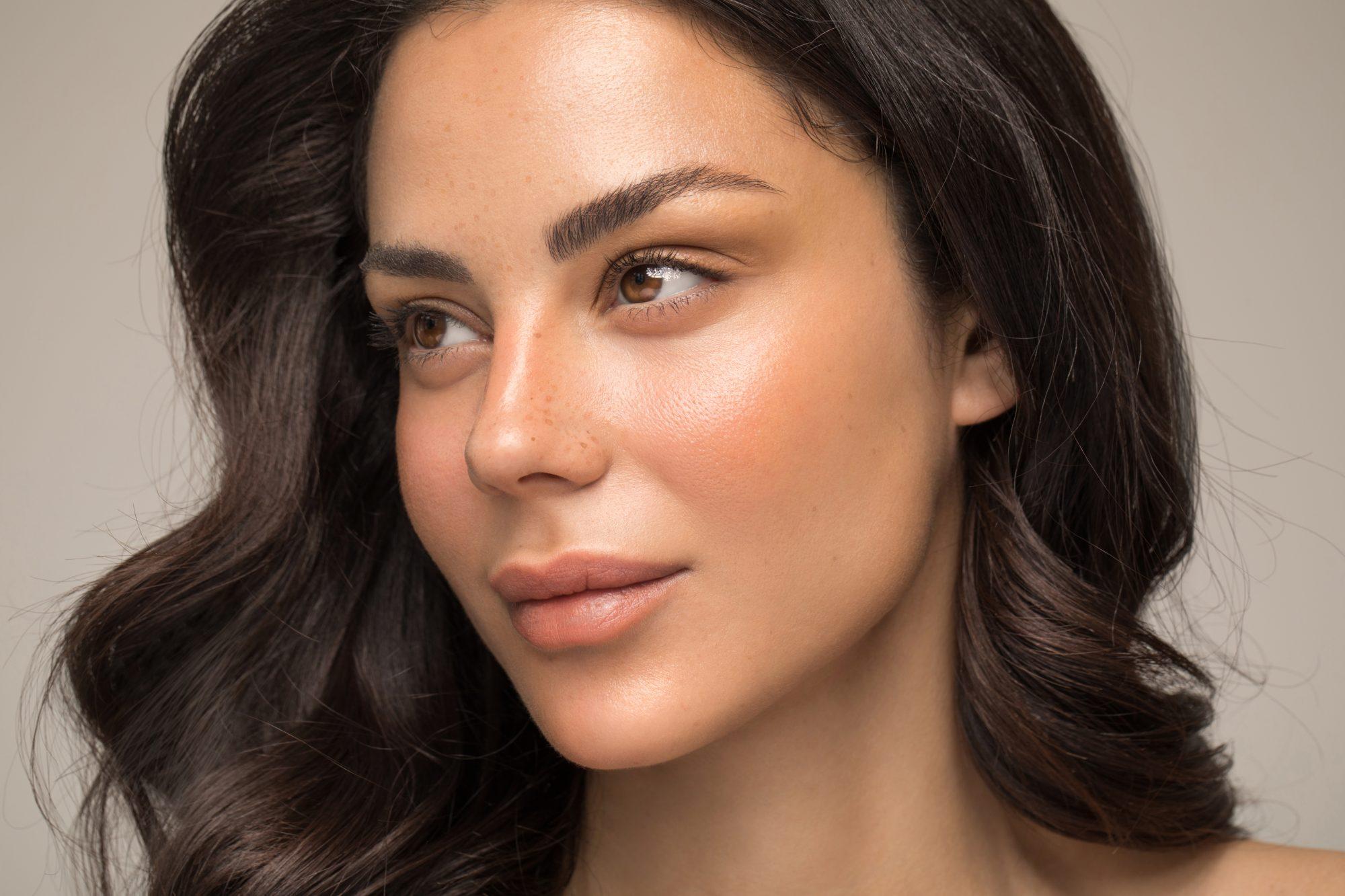 Mujer, piel, rostro, belleza
