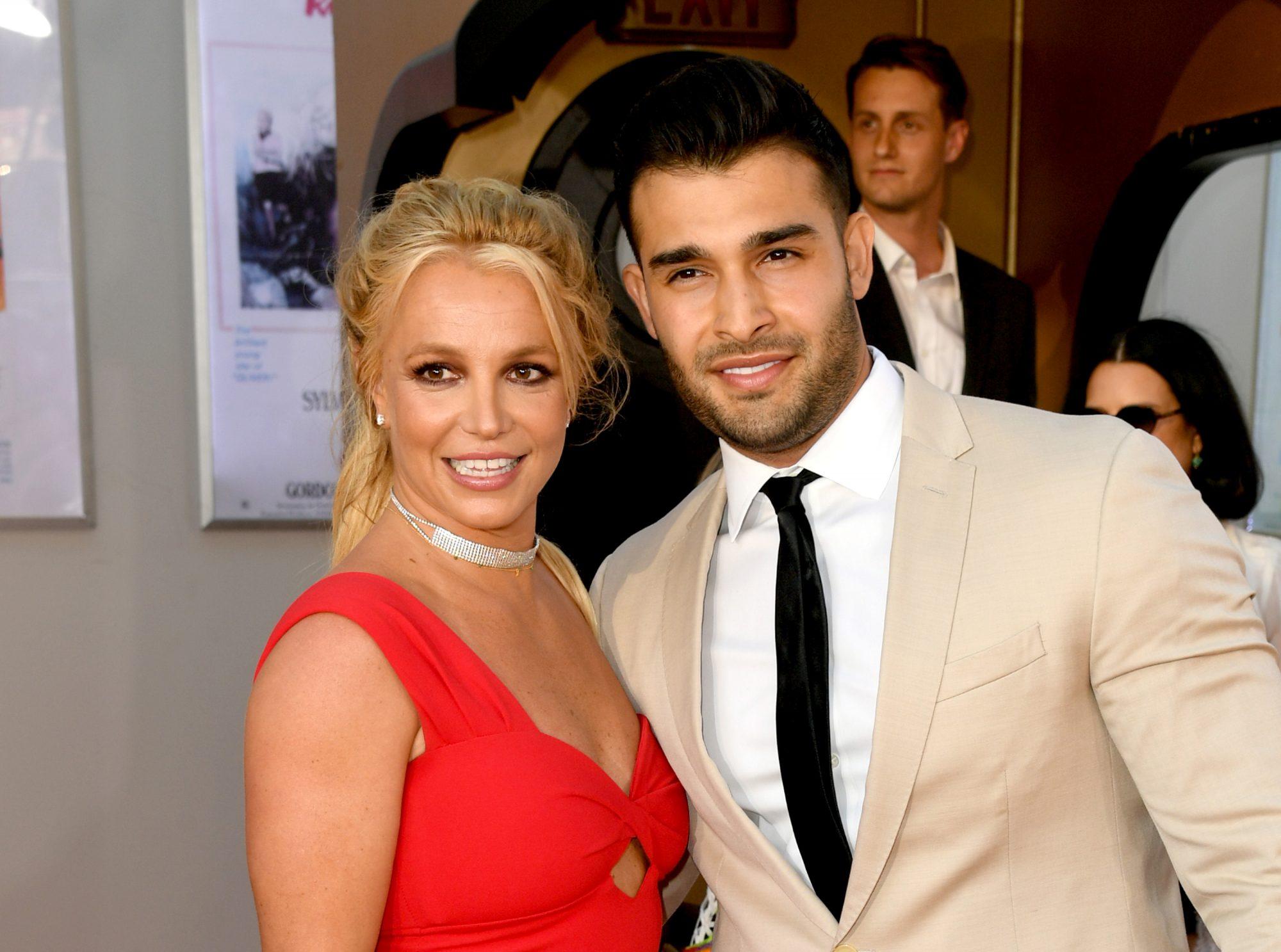 Britney Spears y su novio Sam Asghari