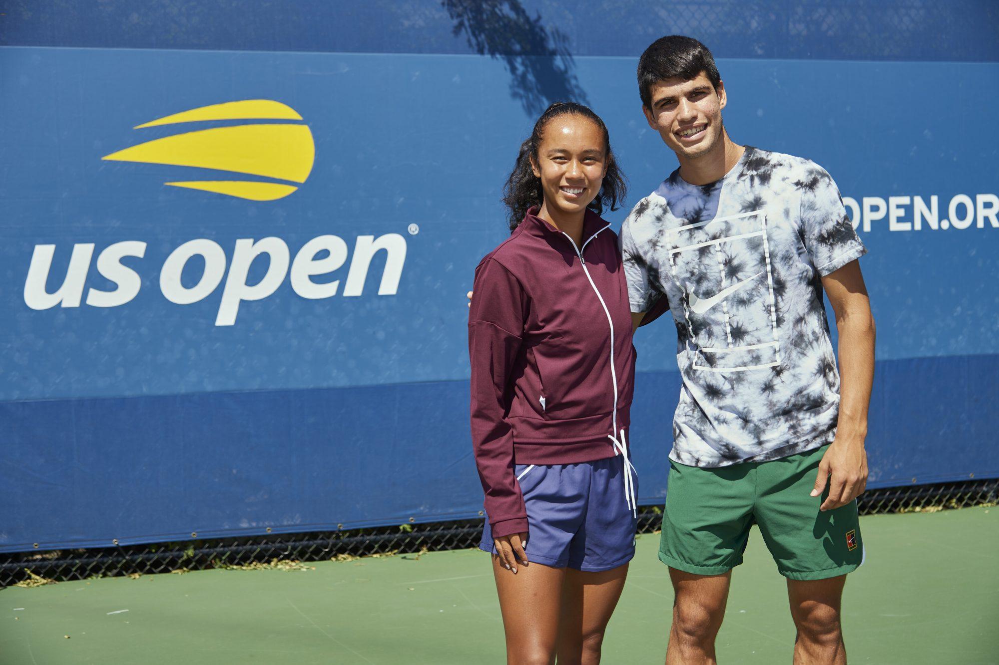 Leylah Fernández y Carlos Alcaraz US Open