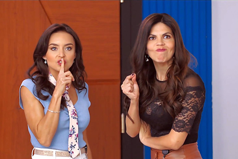 """Angelique Boyer y África Zavala en una escena de la telenovela """"Vencer El Pasado"""""""