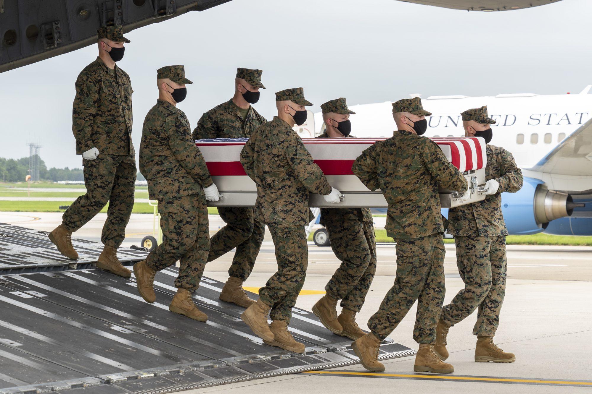 David L. Espinoza Dignifed Transfer Held For 13 Service Members Killed At Kabul Airport