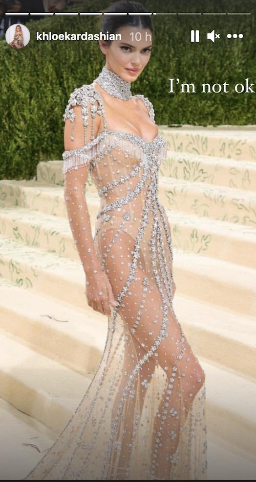 Khloé kardashian mensaje Gala Met 2021
