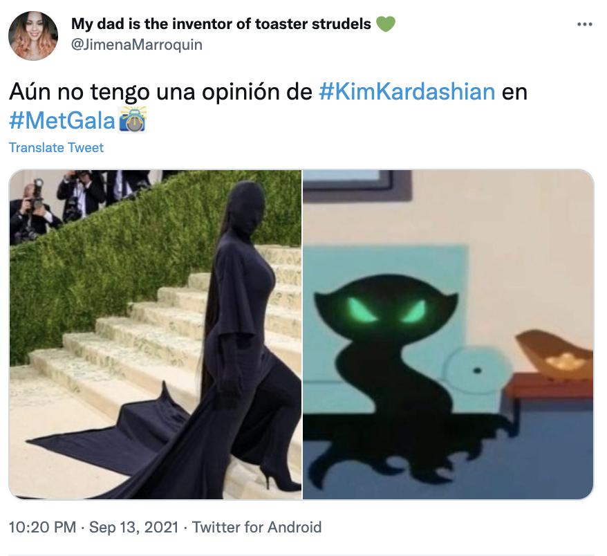 MET GALA 2021 Meme Kim Kardashian