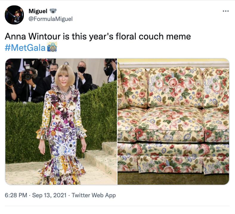 MET GALA 2021 Memes Anna Wintour