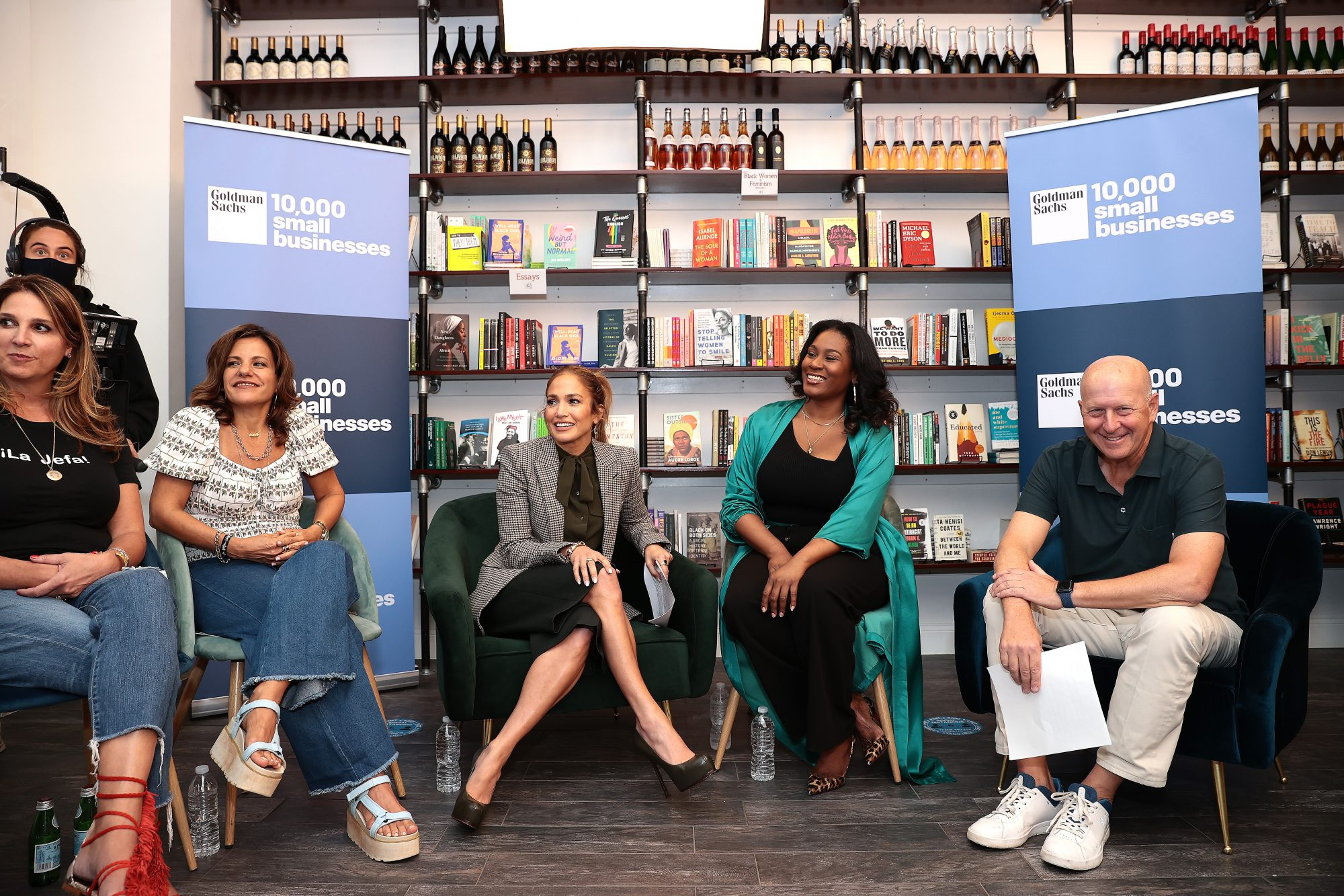 Jennifer Lopez visits the independent bookstore the Lit. Bar in The Bronx