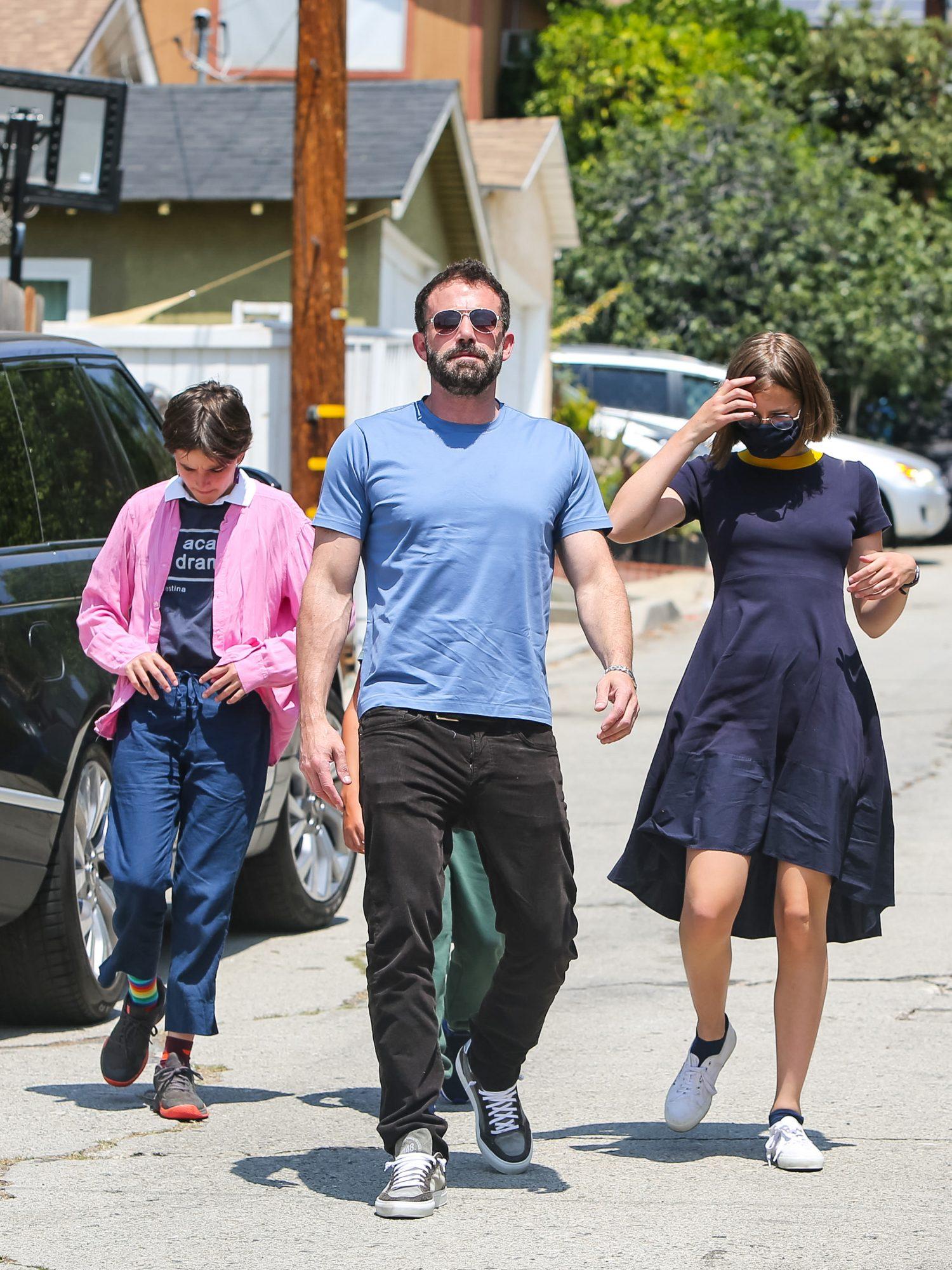 Ben Affleck con sus hijos