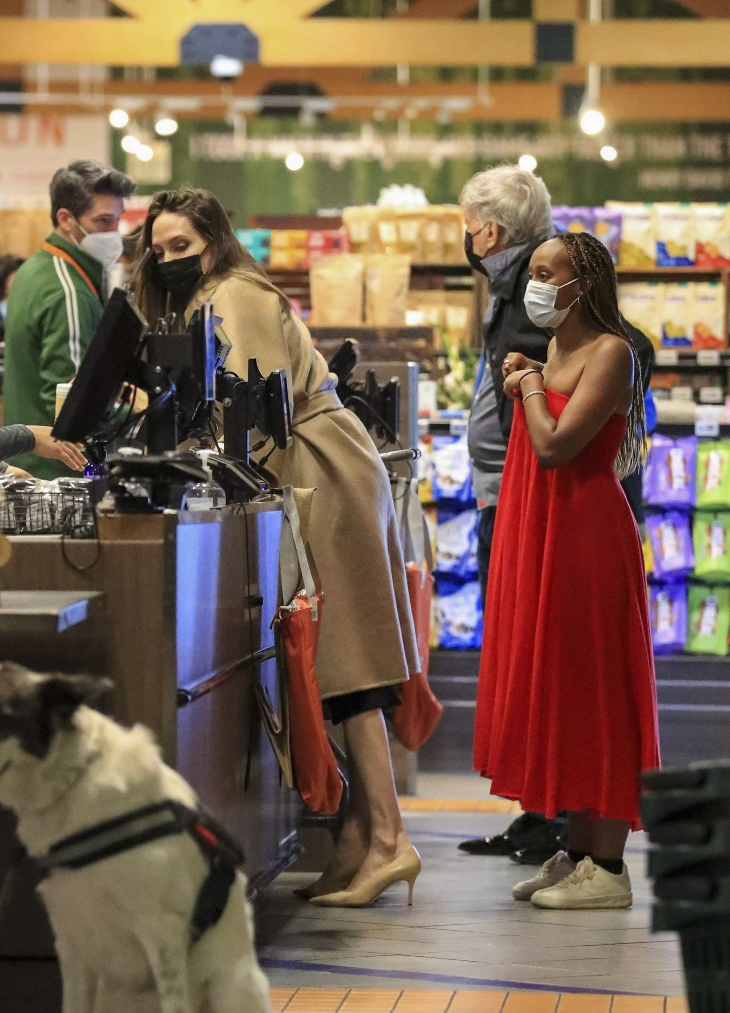 Angelina Jolie Goes Weekend Grocery Shopping with Daughter Zahara