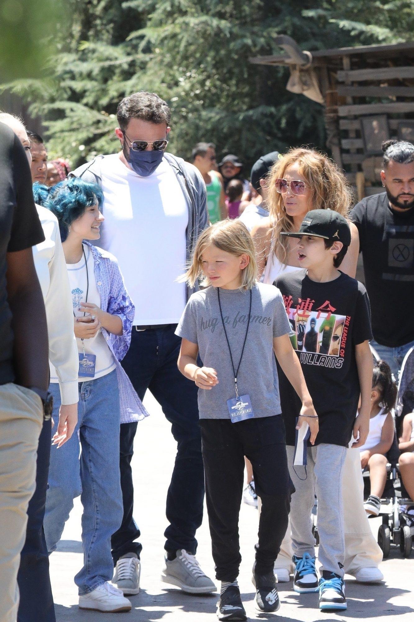 Jennifer Lopez Ben Affleck y sus hijos