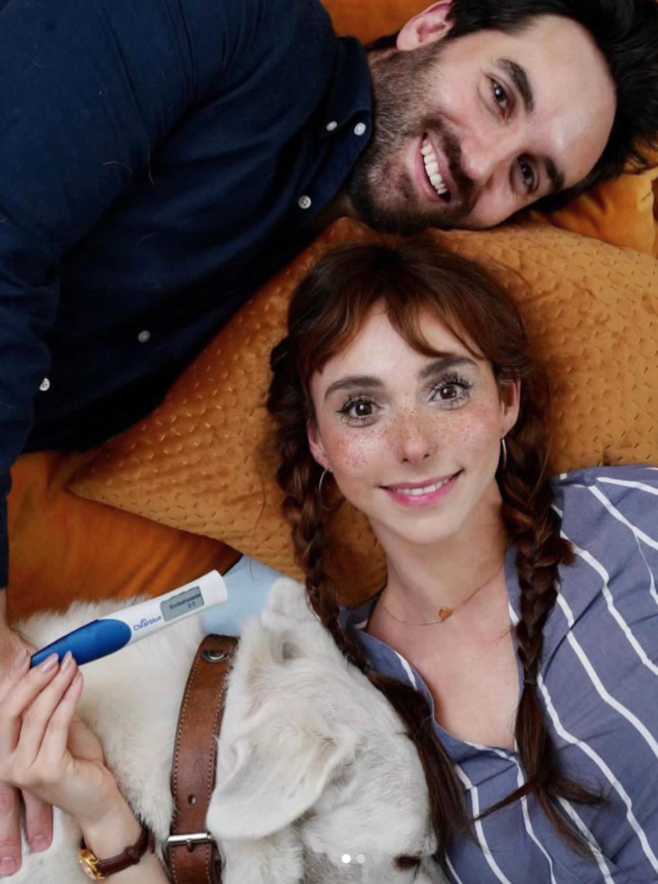 Natalia Téllez y su novio