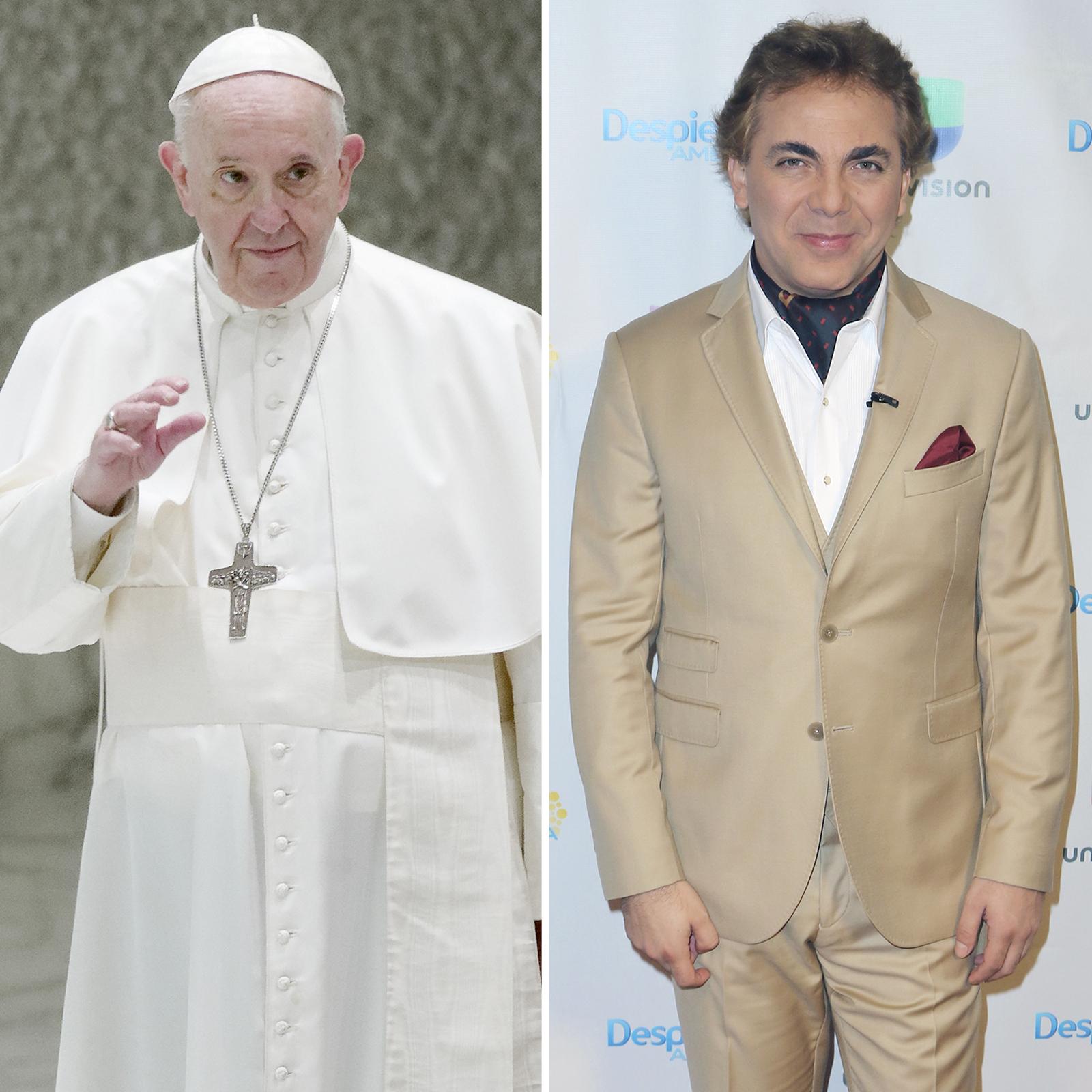 Papa Francisco y Cristian Castro