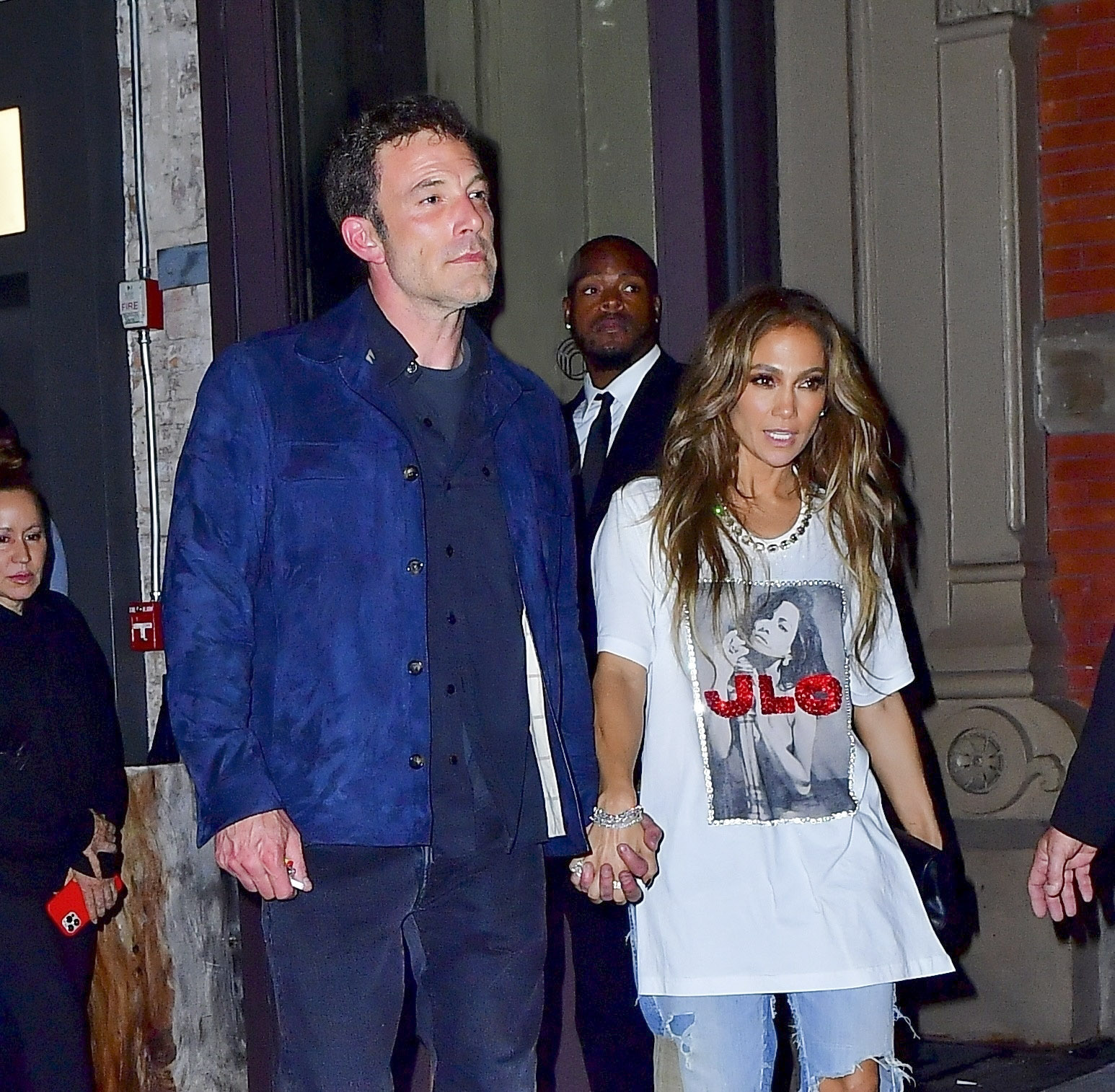 Bennifer go hand in hand to dinner following the Global Citizen Live Festival in NYC