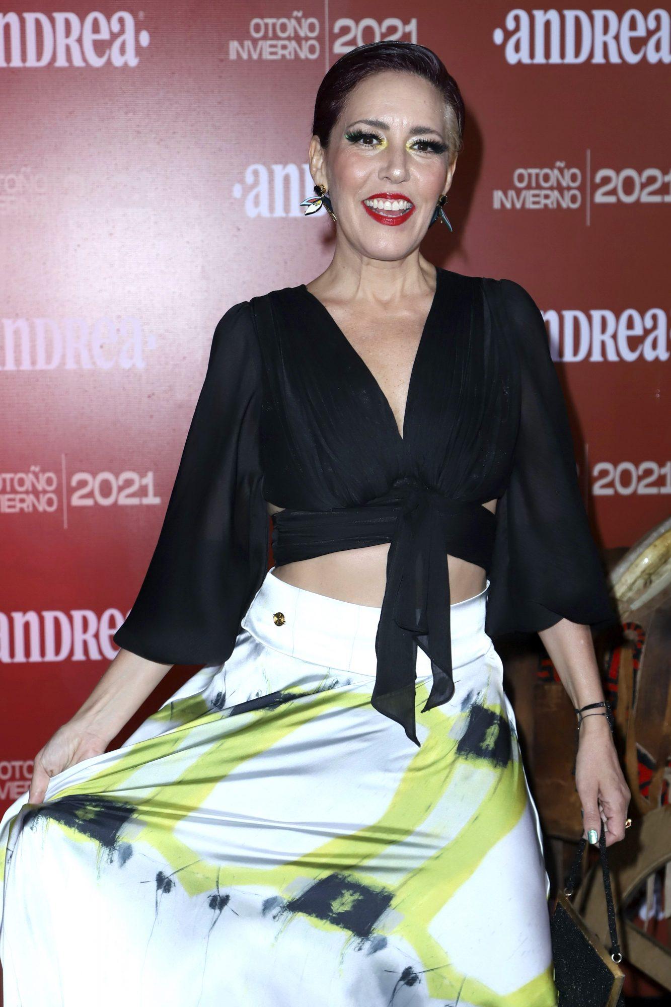 Stephanie Salas en la alfombra roja de la presentación de la nueva colección otoño-invierno de la revista Andrea