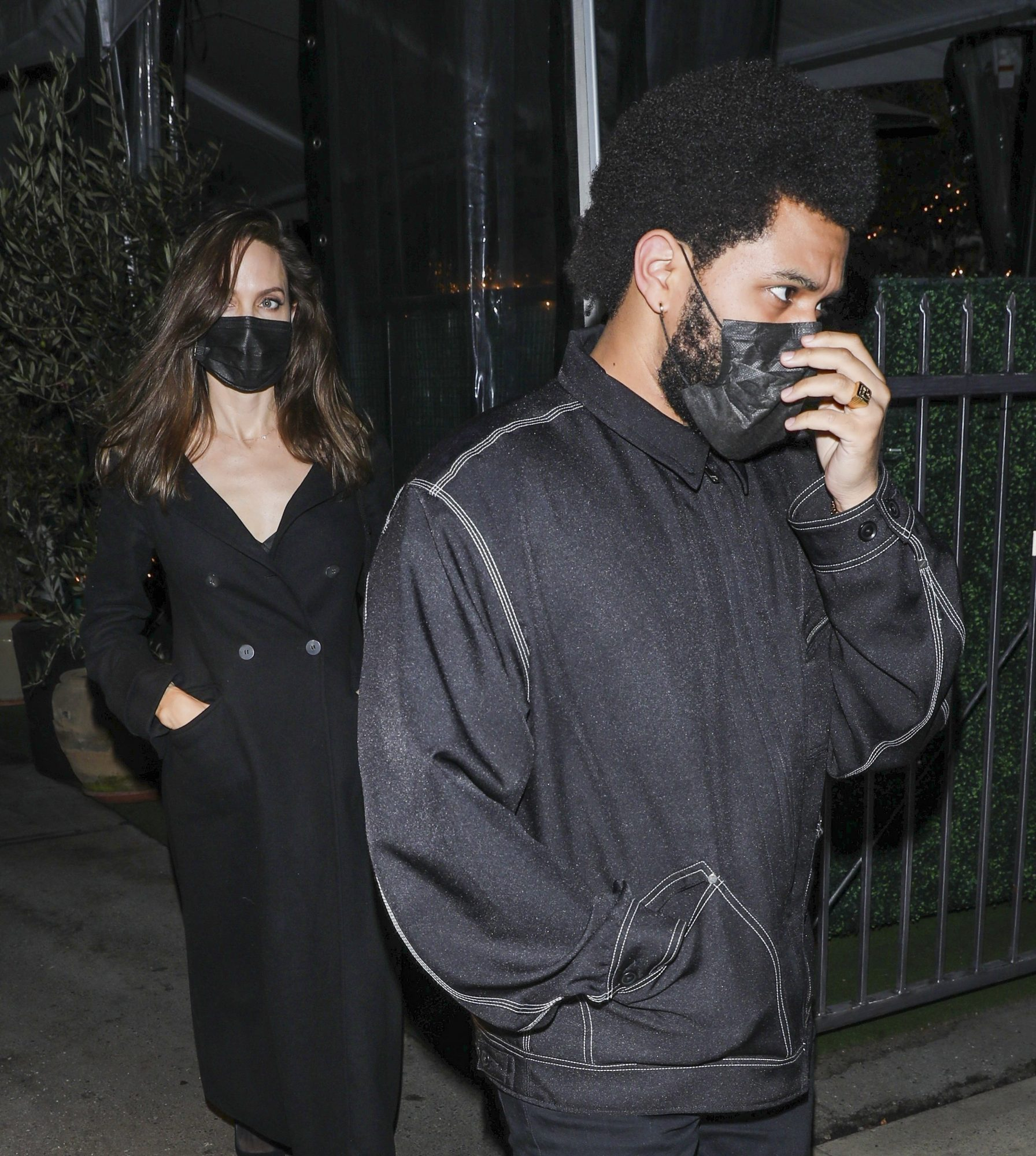 Angelina Jolie and The Weeknd Enjoy Dinner at Romantic LA Restaurant