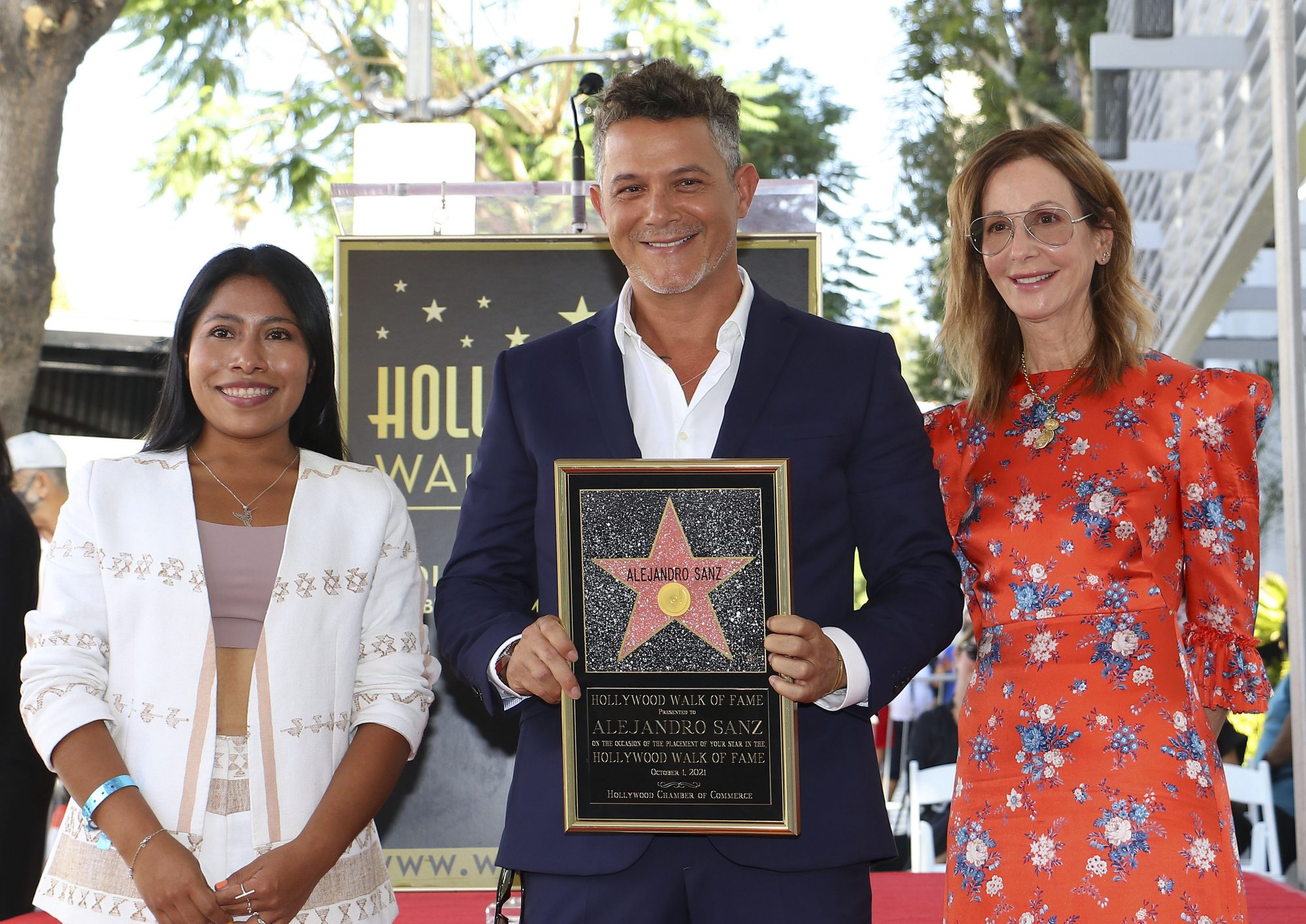 Alejandro Sanz Receives A Star On The Hollywood Walk Of Fame
