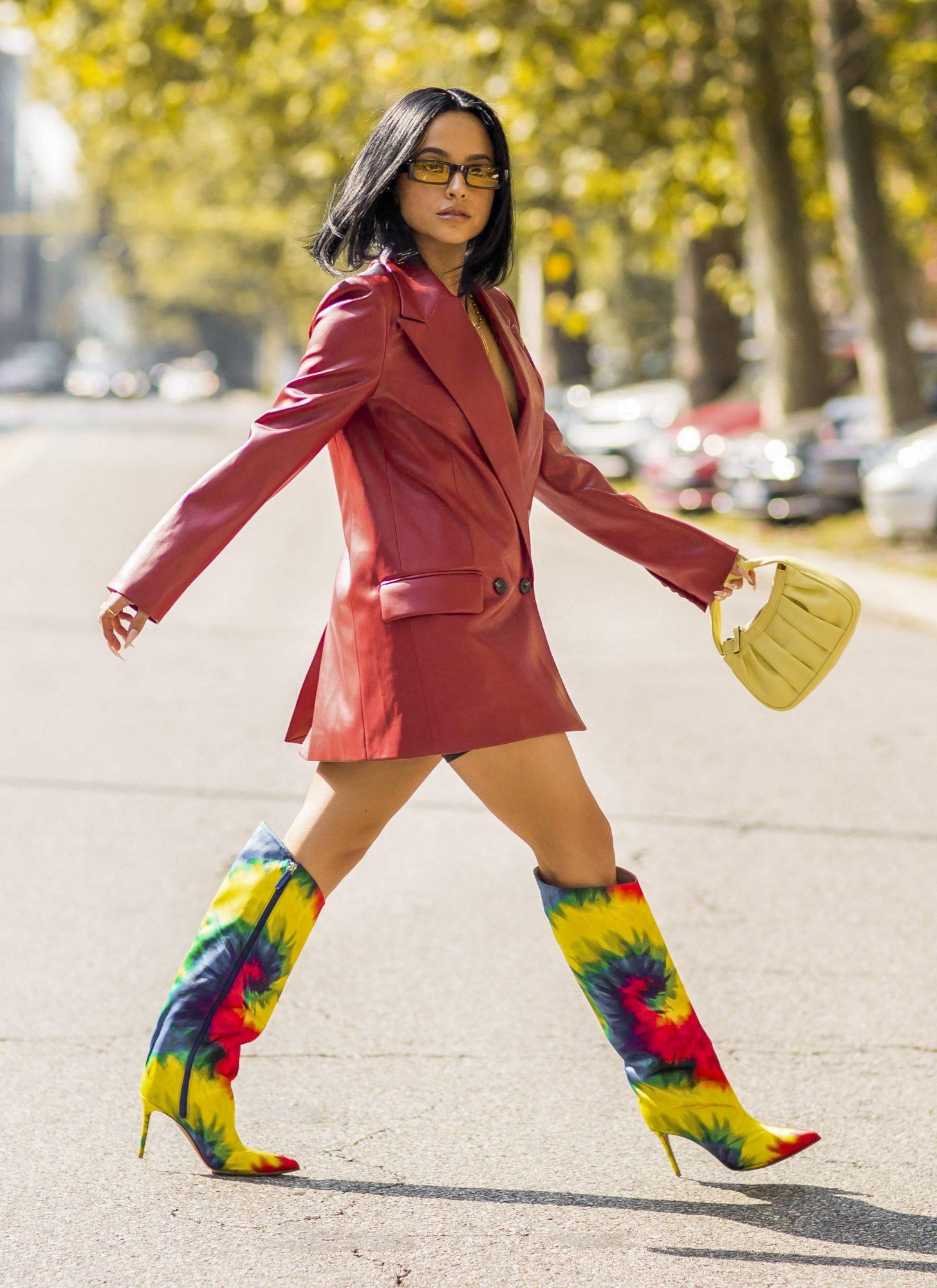 Famosas botas altas otoño