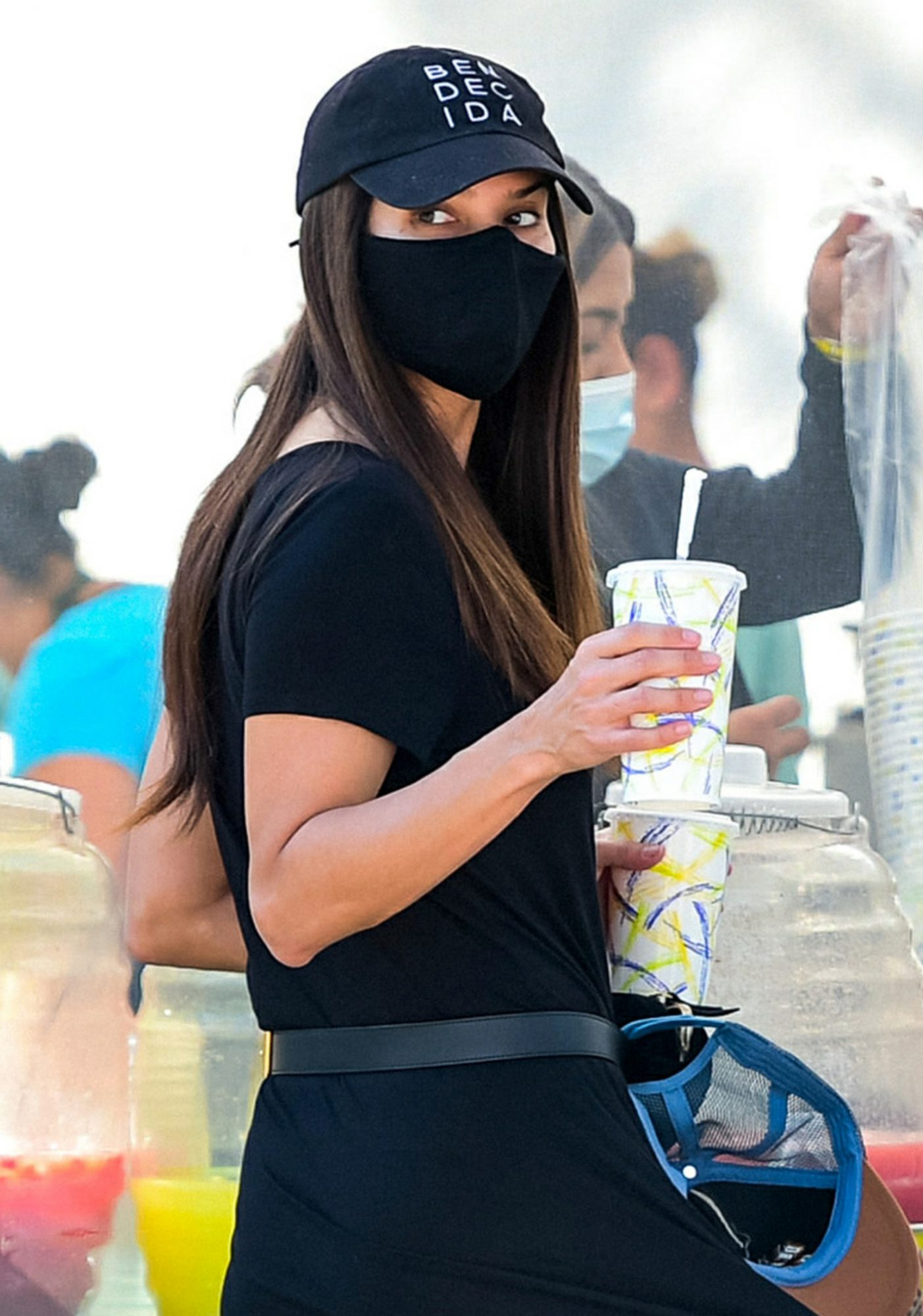 Roselyn Sanchez Enjoyse Some Aguas Frescas with her Son Dylan in LA