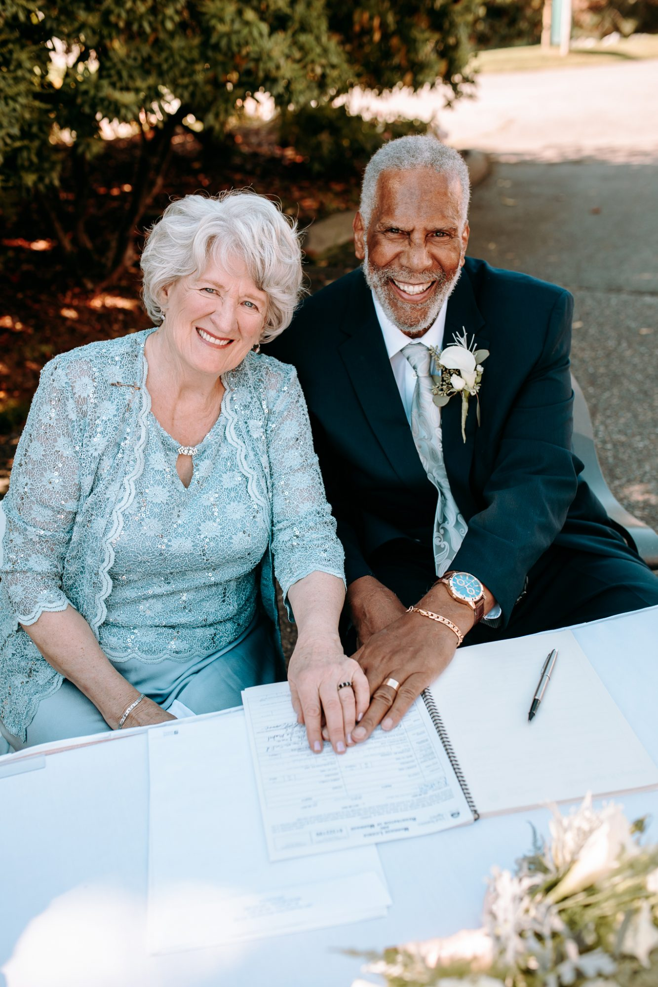 Jim Adams y Audrey Coutts