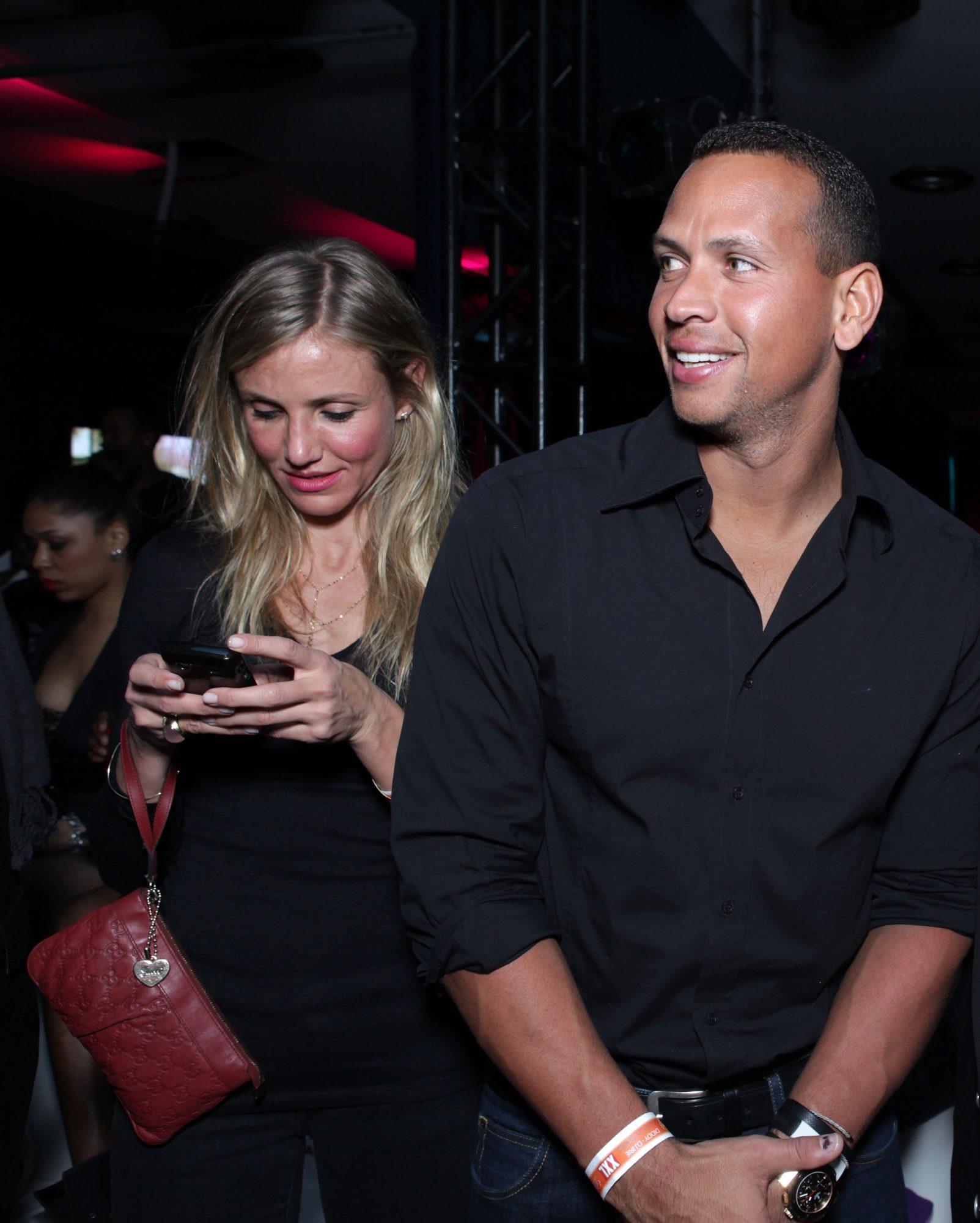 Actress Cameron Diaz (L) and MLB player Alex Rodriguez
