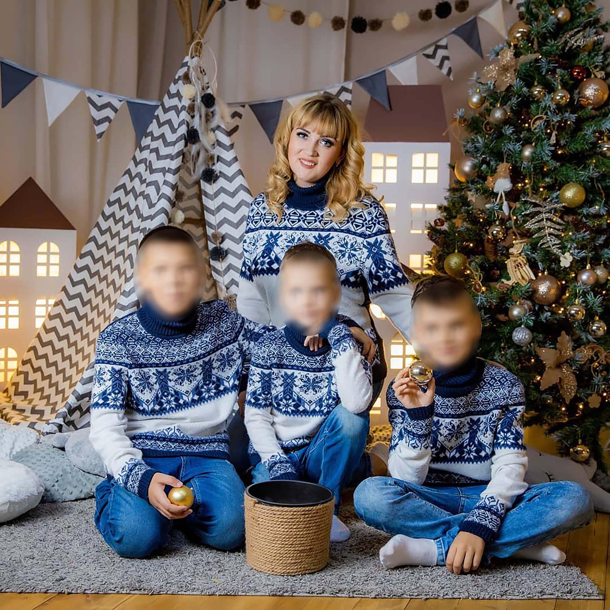 Yevgenia Leontyeva y sus hijos