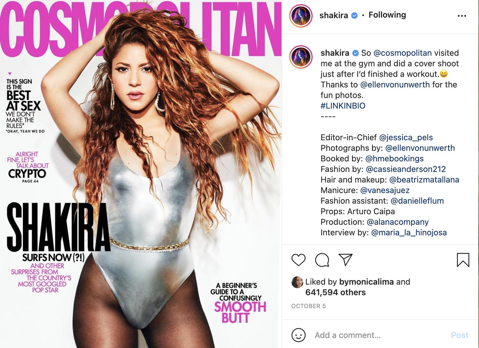 Shakira Cosmo