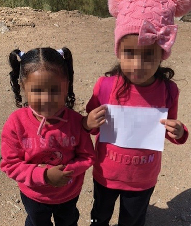 Dos Niñas perdidas en la frontera